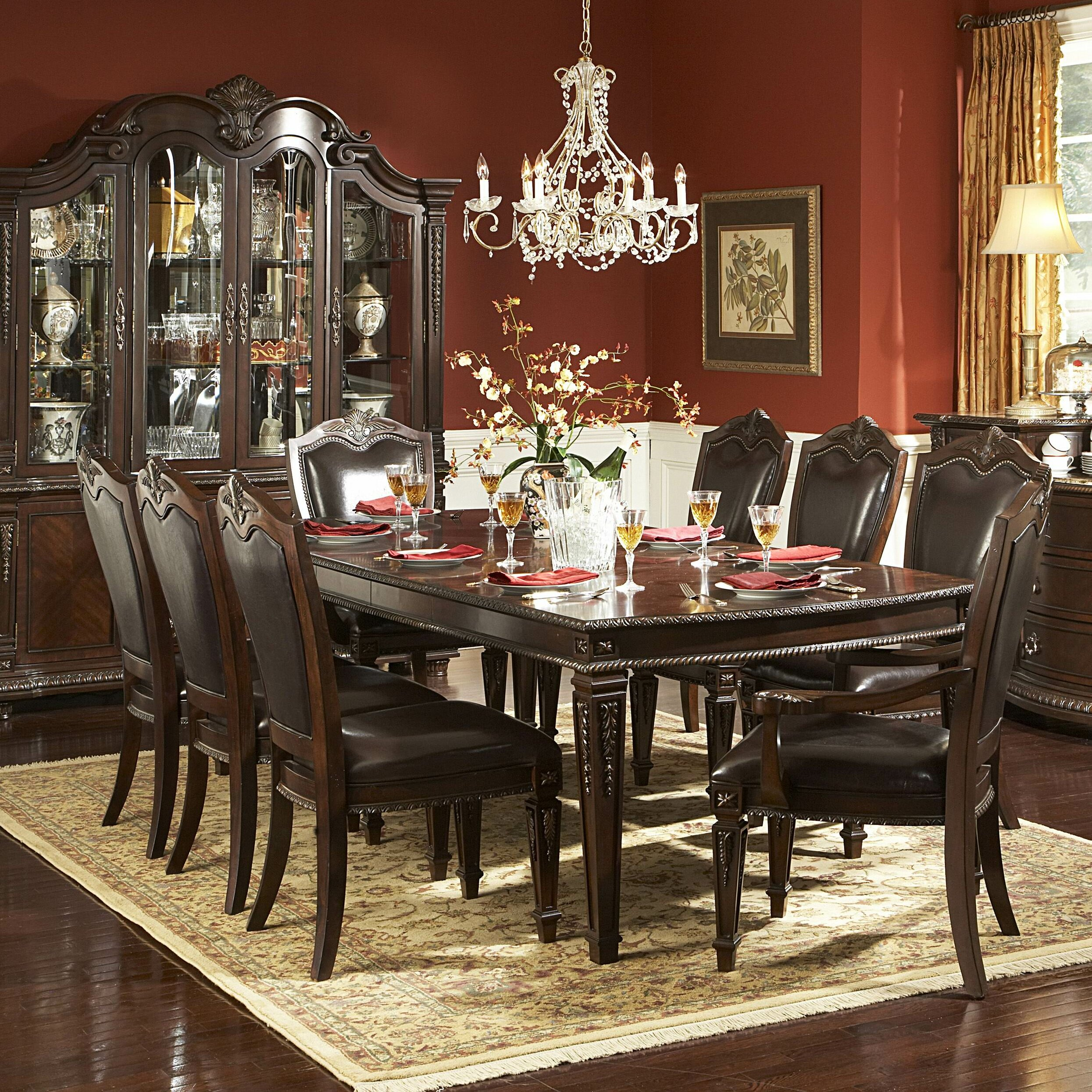 woodhaven hill palace 9 piece dining set reviews wayfair. Black Bedroom Furniture Sets. Home Design Ideas