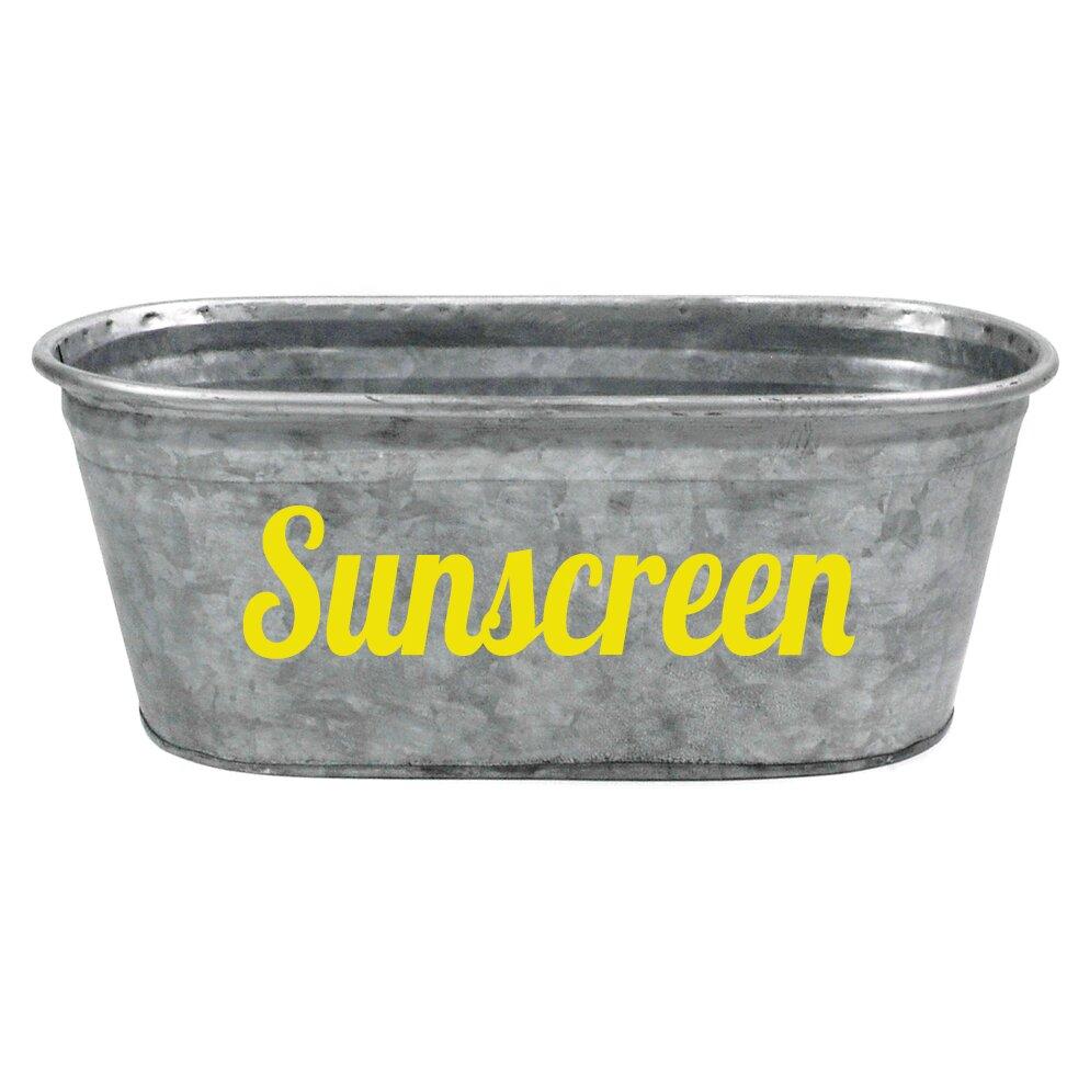 Asouthernbucket sunscreen galvanized tub reviews wayfair for Galvanized bathtub
