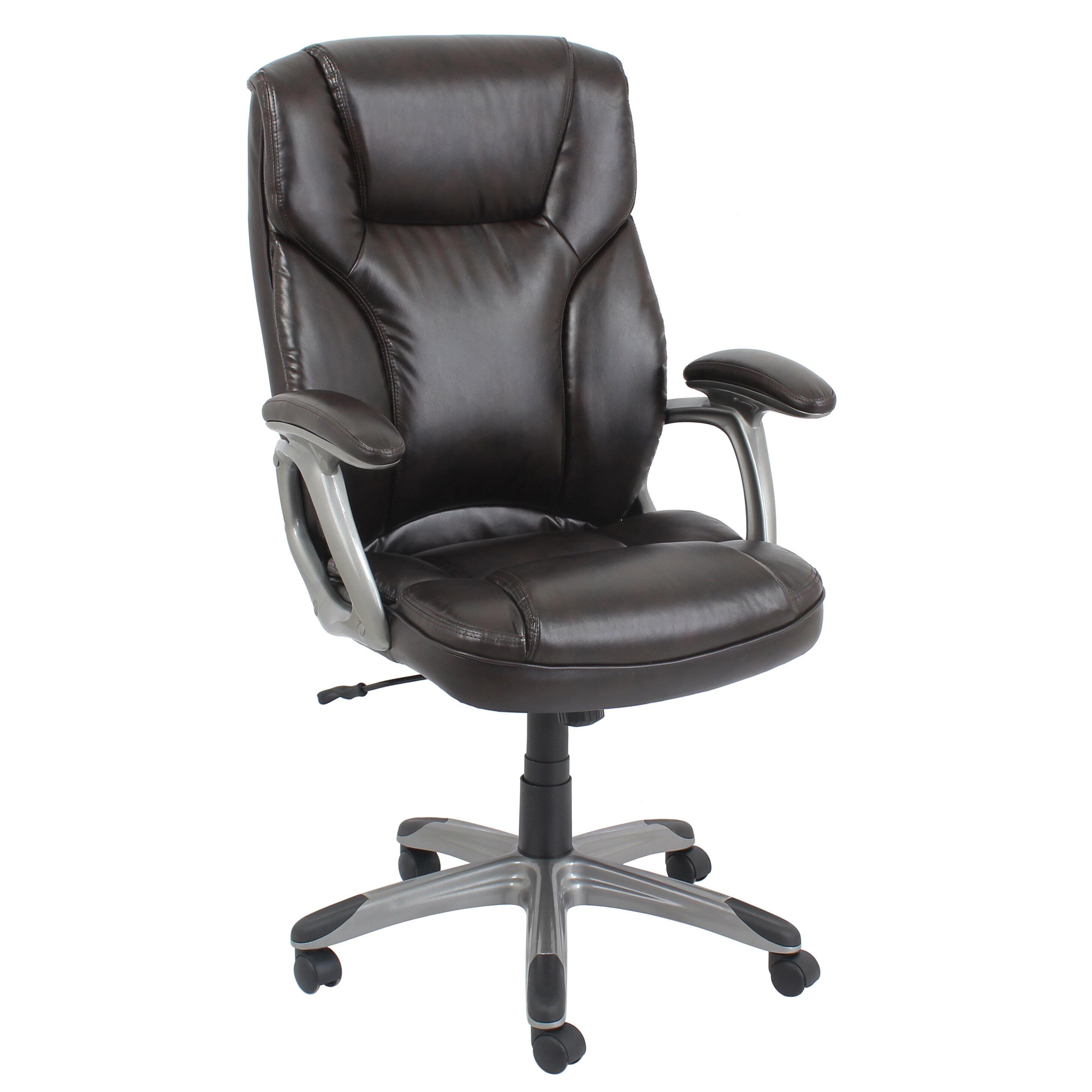 barcalounger high back leather executive office chair with arms