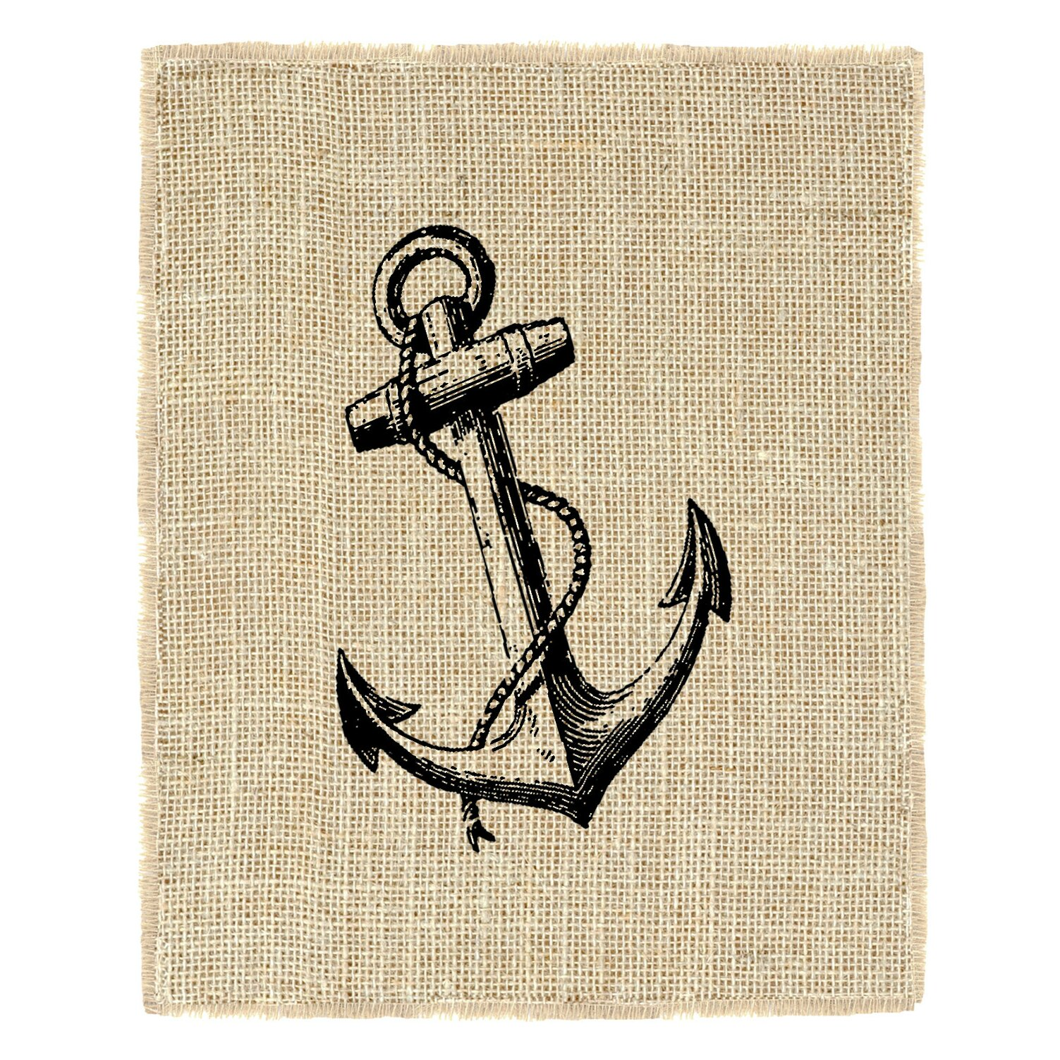 Vintage Anchor' Graphic Art by Fiber & Water Vintage Anchor Drawing