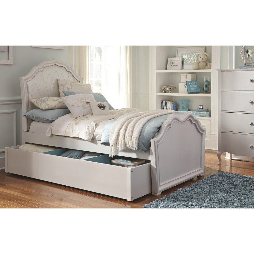 tiffany upholstered panel customizable bedroom set by lc kids