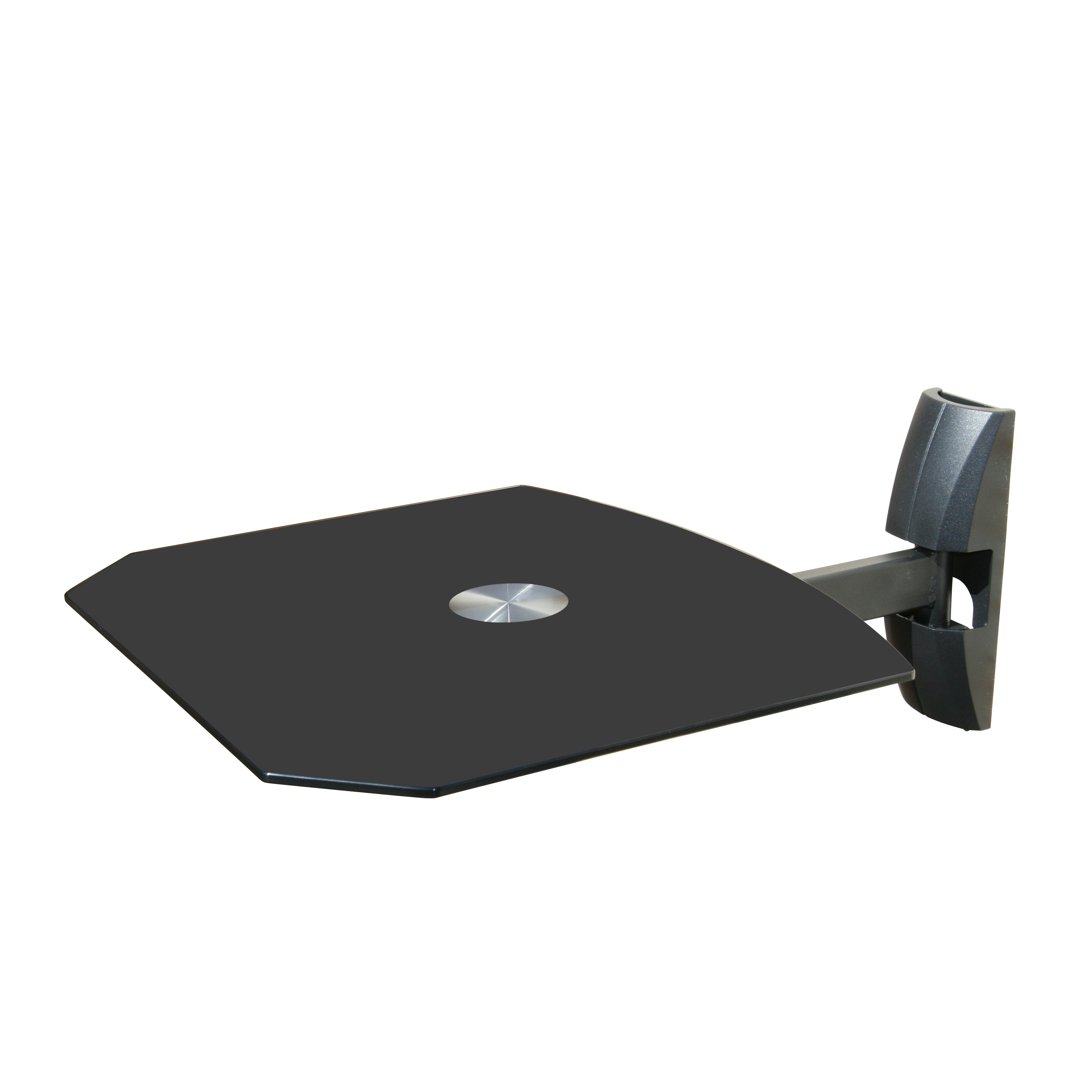Mount It Single Wall Mount Shelf For DVD VCR Cable Box PS3 XBOX Stereo Blu