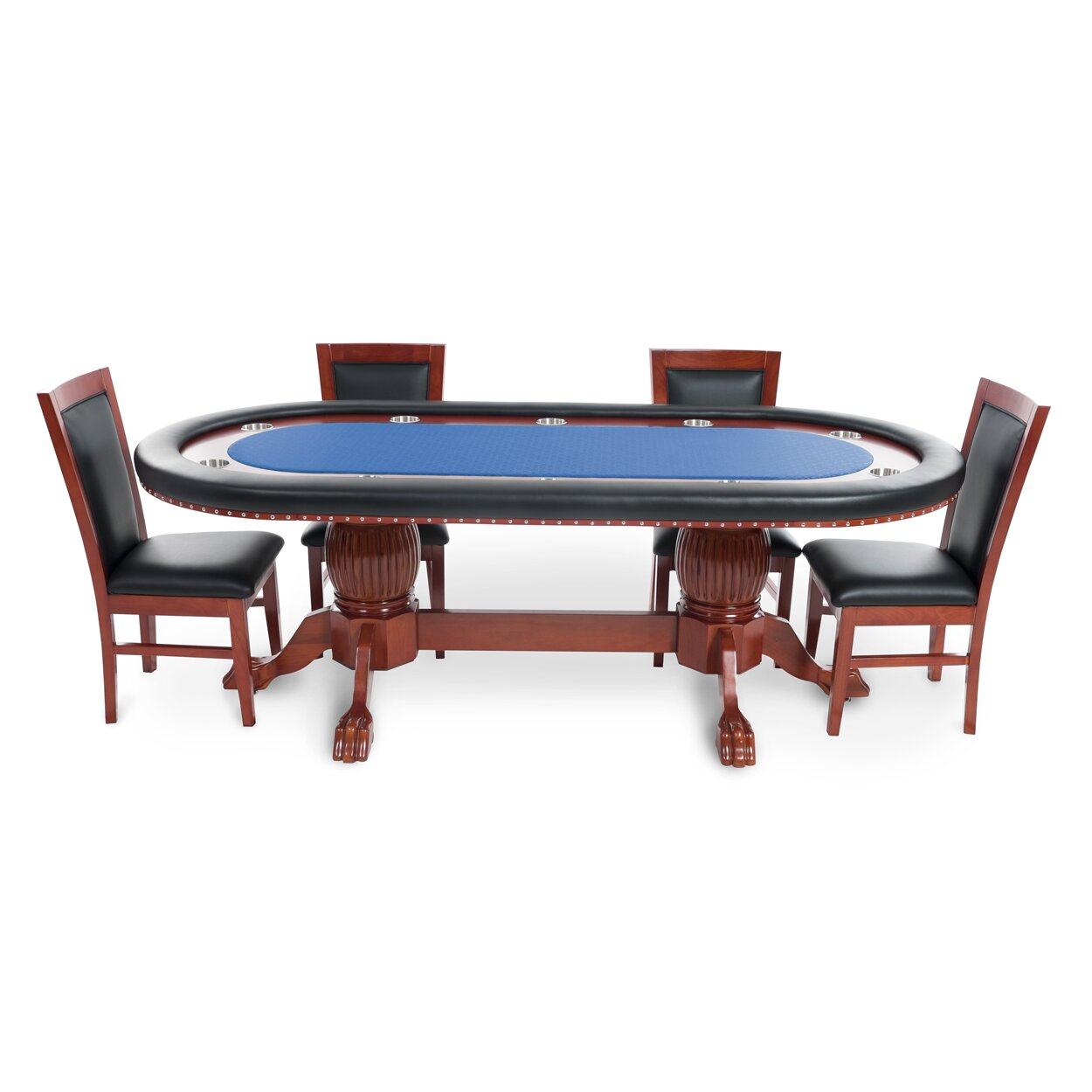 rockwell 8 piece poker dining table set with dining chairs wayfair. Black Bedroom Furniture Sets. Home Design Ideas