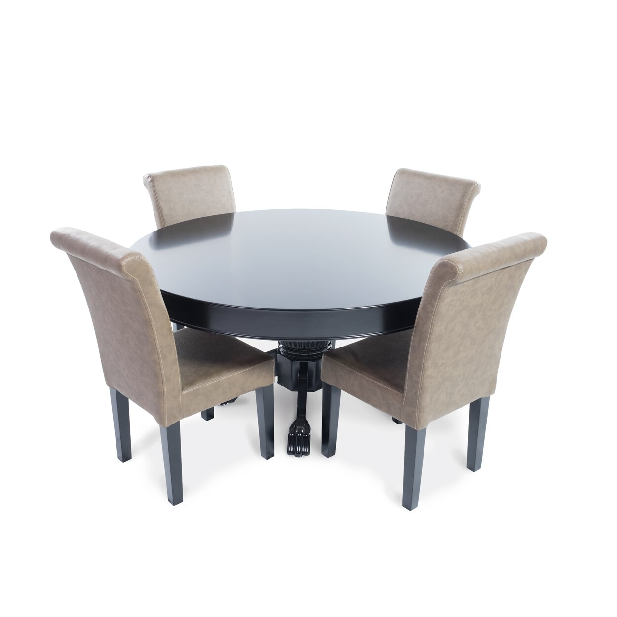 Nighthawk 5 Piece Poker Dining Table Set with Lounge