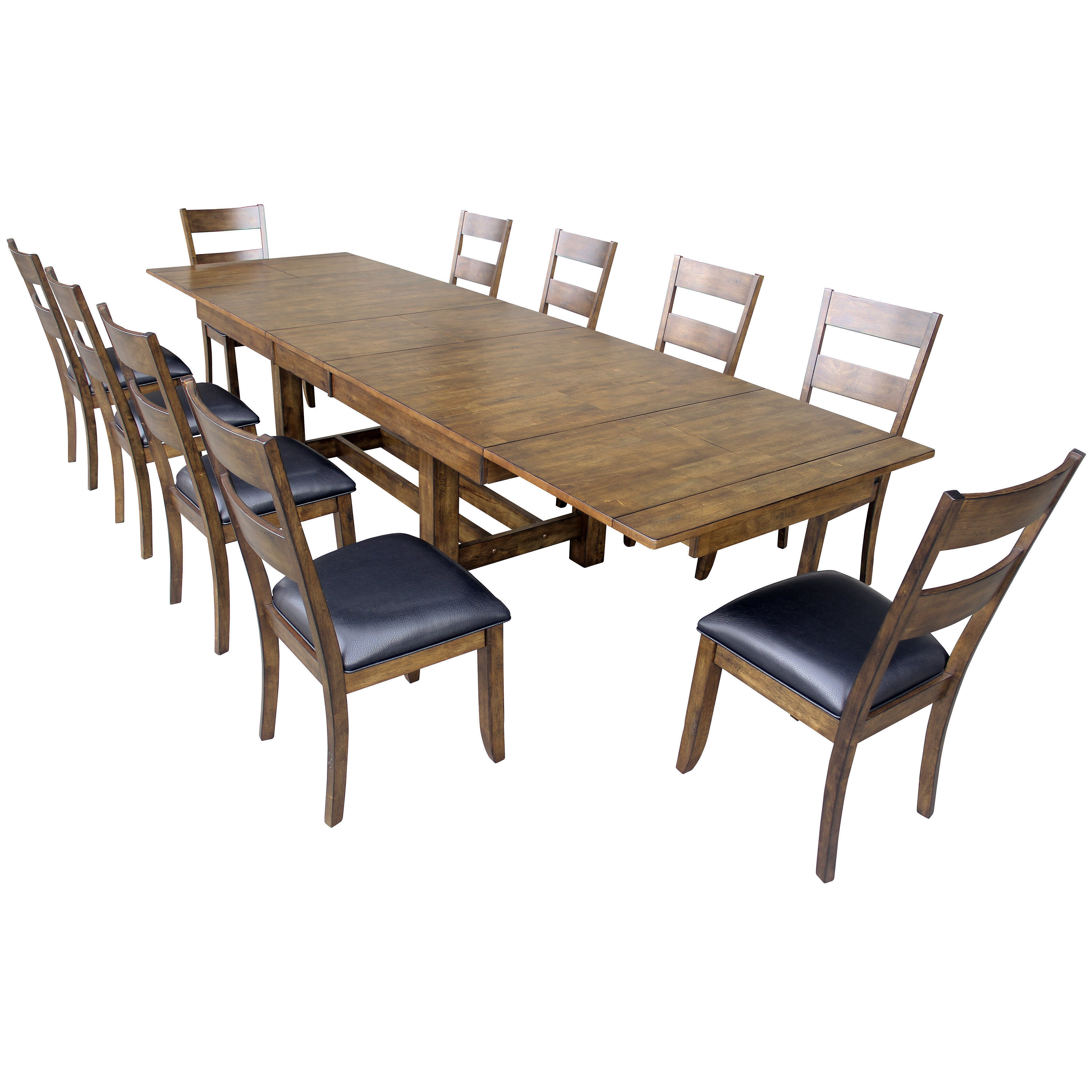 11 Piece Dining Room Set Furniture 4692dtbc9 Park Avenue 9 Piece Dining Set In Dark Cherry