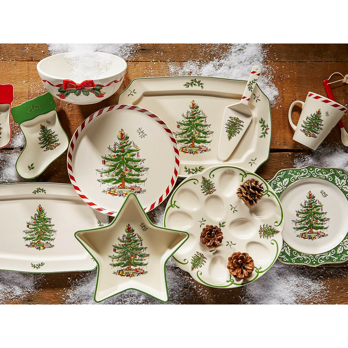 Spode Christmas Tree Peppermint Mug with Spoon & Reviews ...