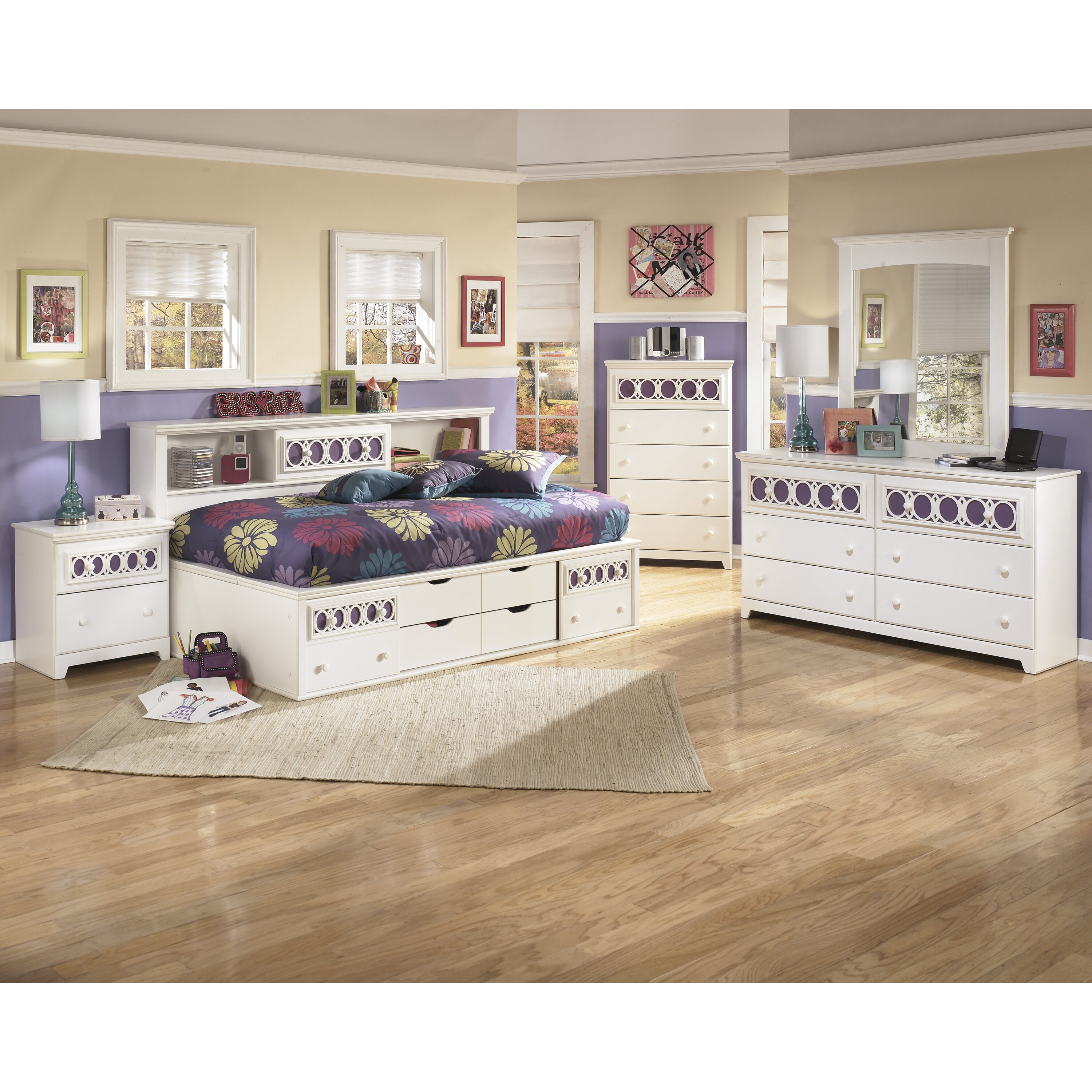 Signature design by ashley zayley twin full captain bed - Ashley furniture full bedroom sets ...