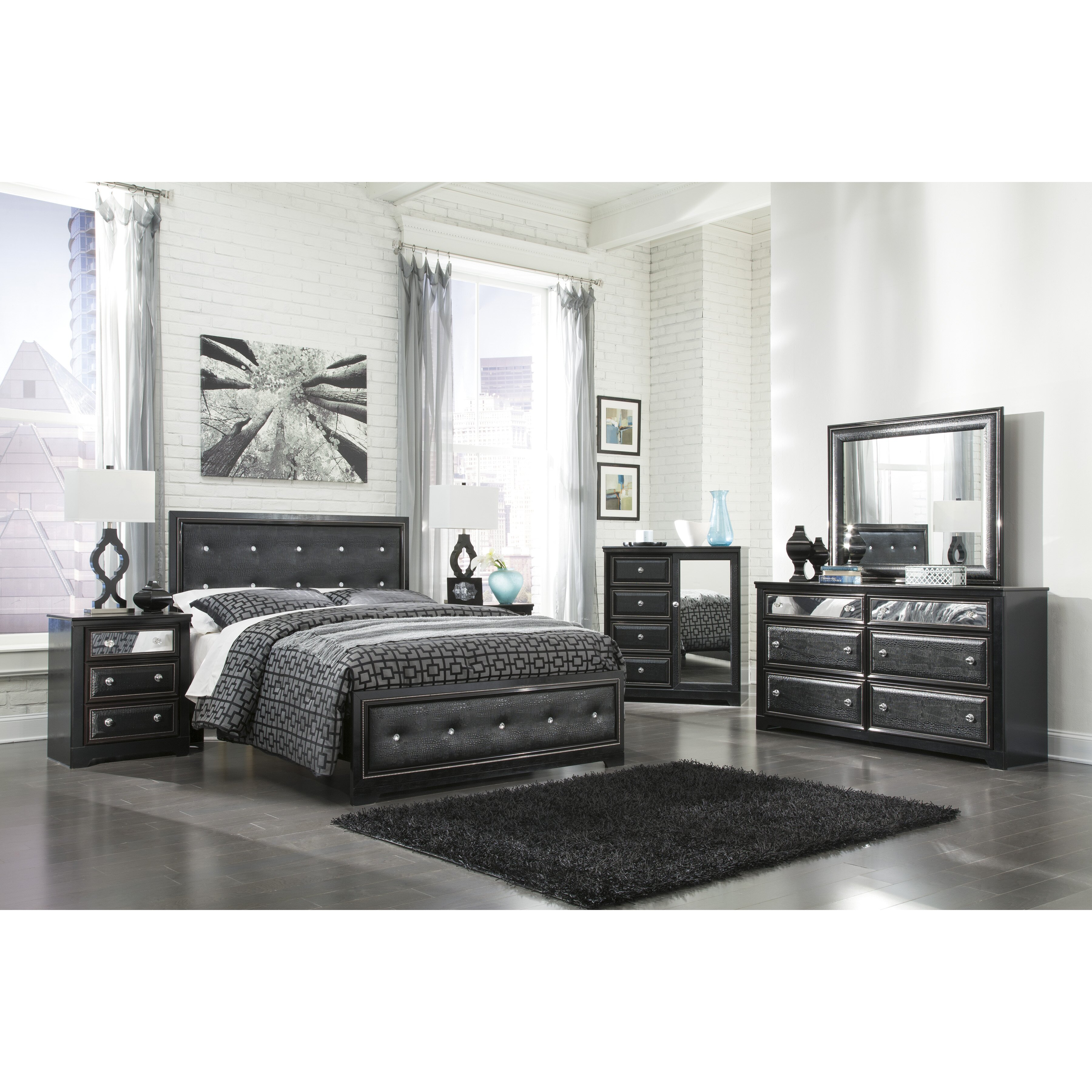 Signature design by ashley alamadyre panel customizable - Ashley bedroom furniture reviews ...