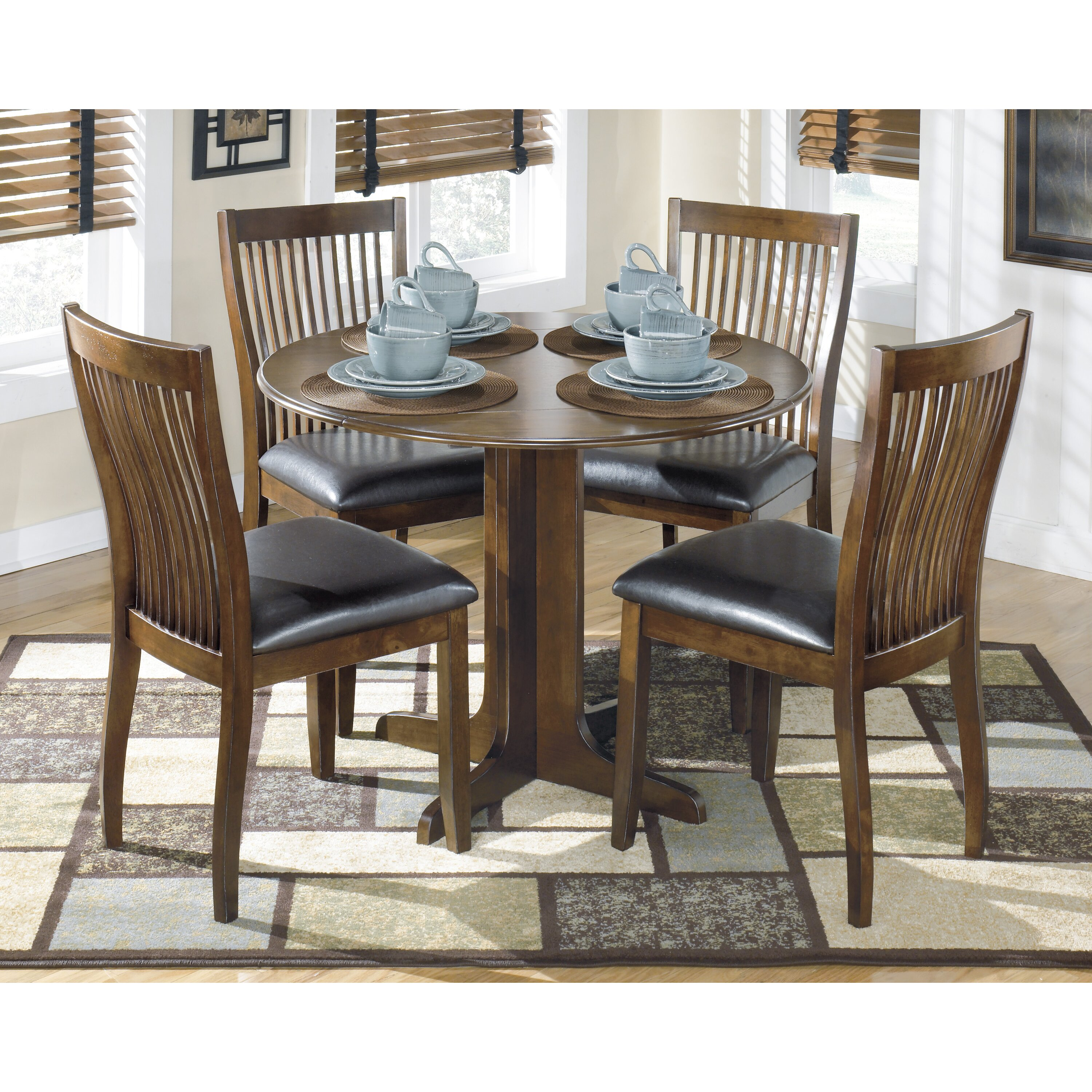Drop Leaf Table Dining: Signature Design By Ashley Stuman Drop Leaf Dining Table