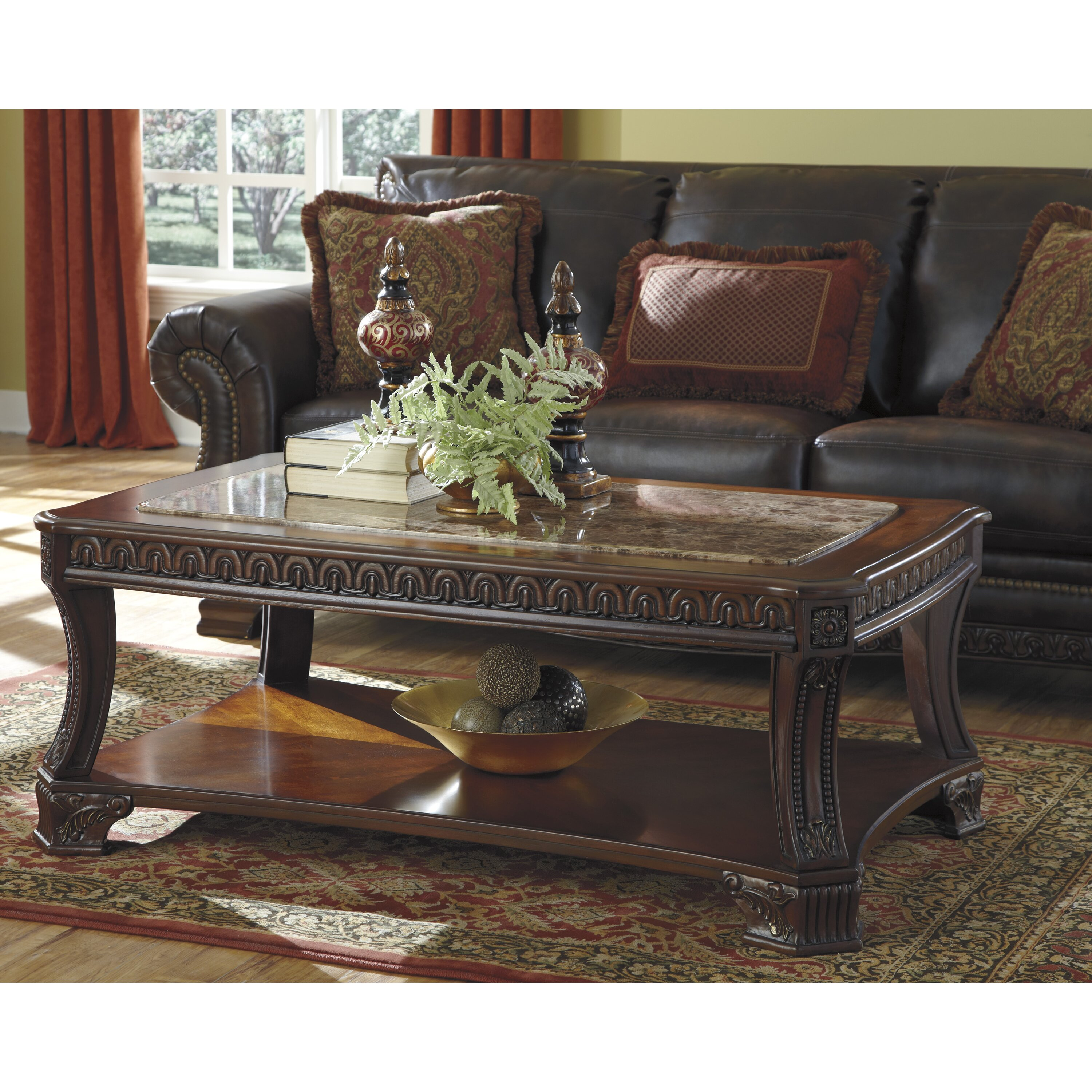 signature design by ashley morgan coffee table reviews