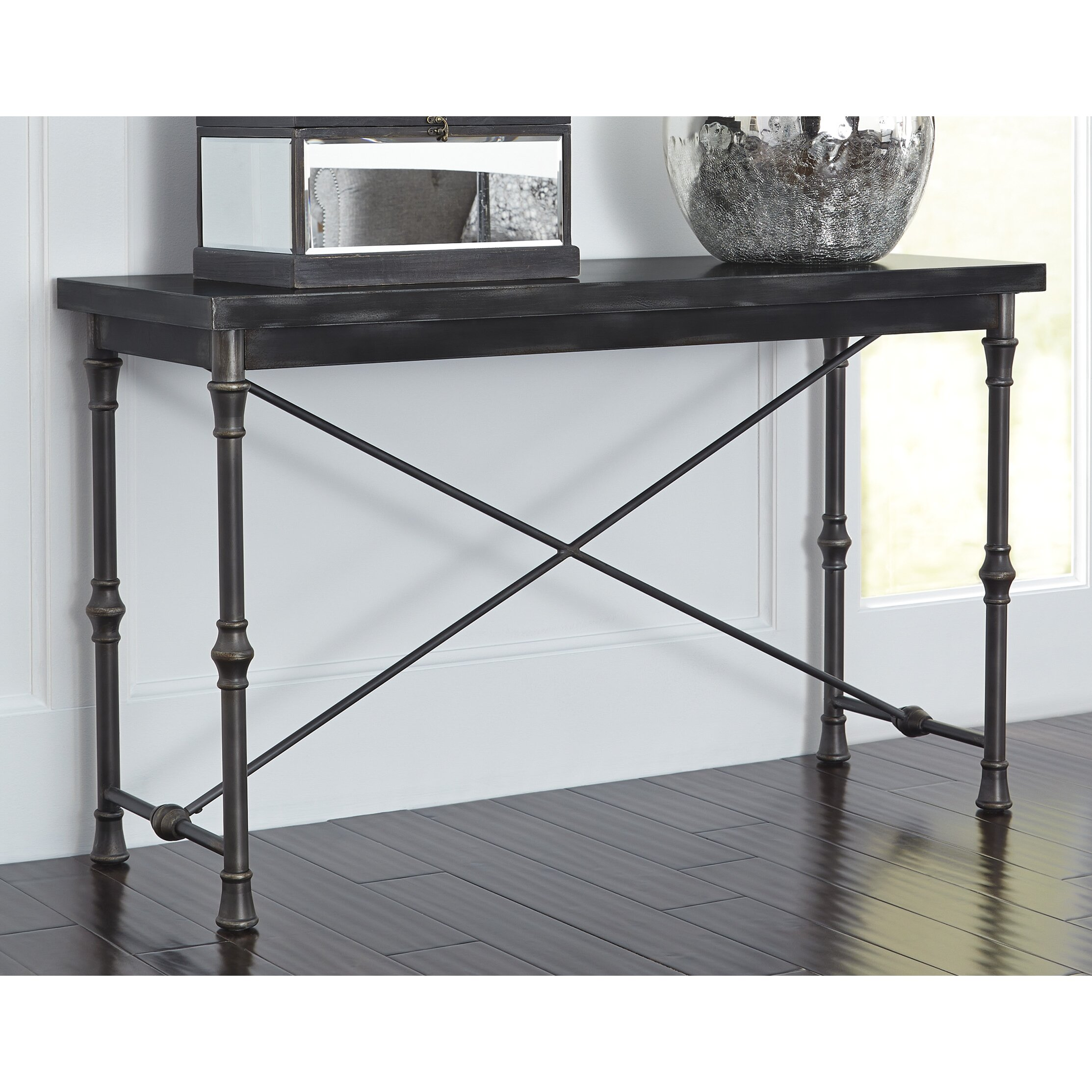 signature design by ashley ballor console table reviews. Black Bedroom Furniture Sets. Home Design Ideas