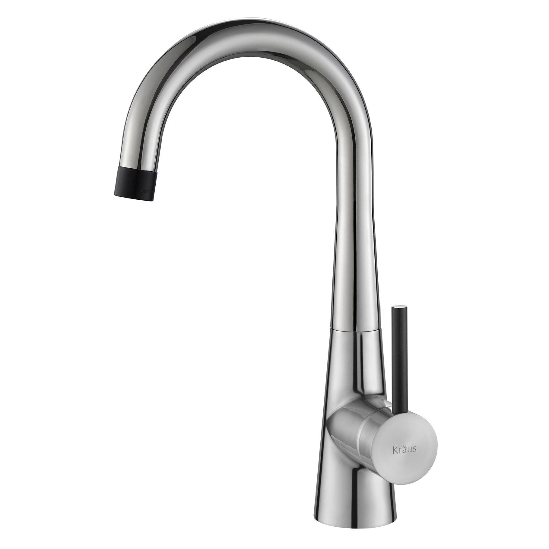 Kraus crespo flex commercial style kitchen bar prep for Faucet soap dispenser placement