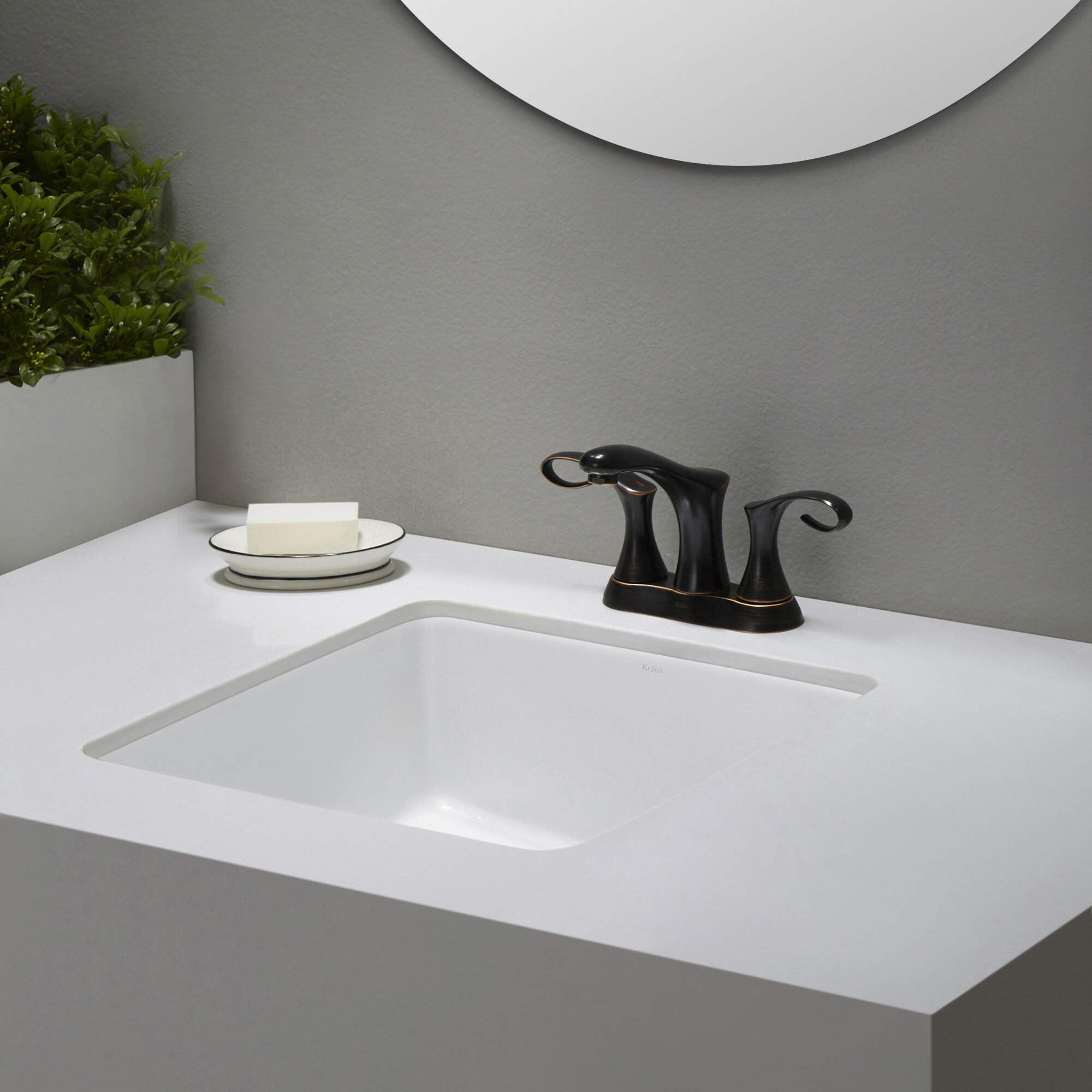 Undermount Square Bathroom Sink : ... bathroom sink kraus elavotm ceramic square undermount bathroom sink