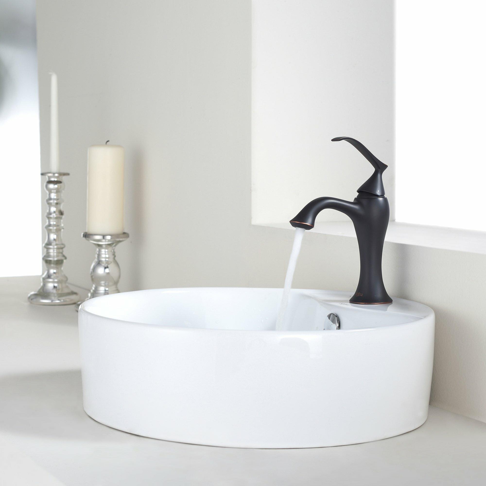 Kraus Bathroom Combos Bathroom Sink With Single Handle