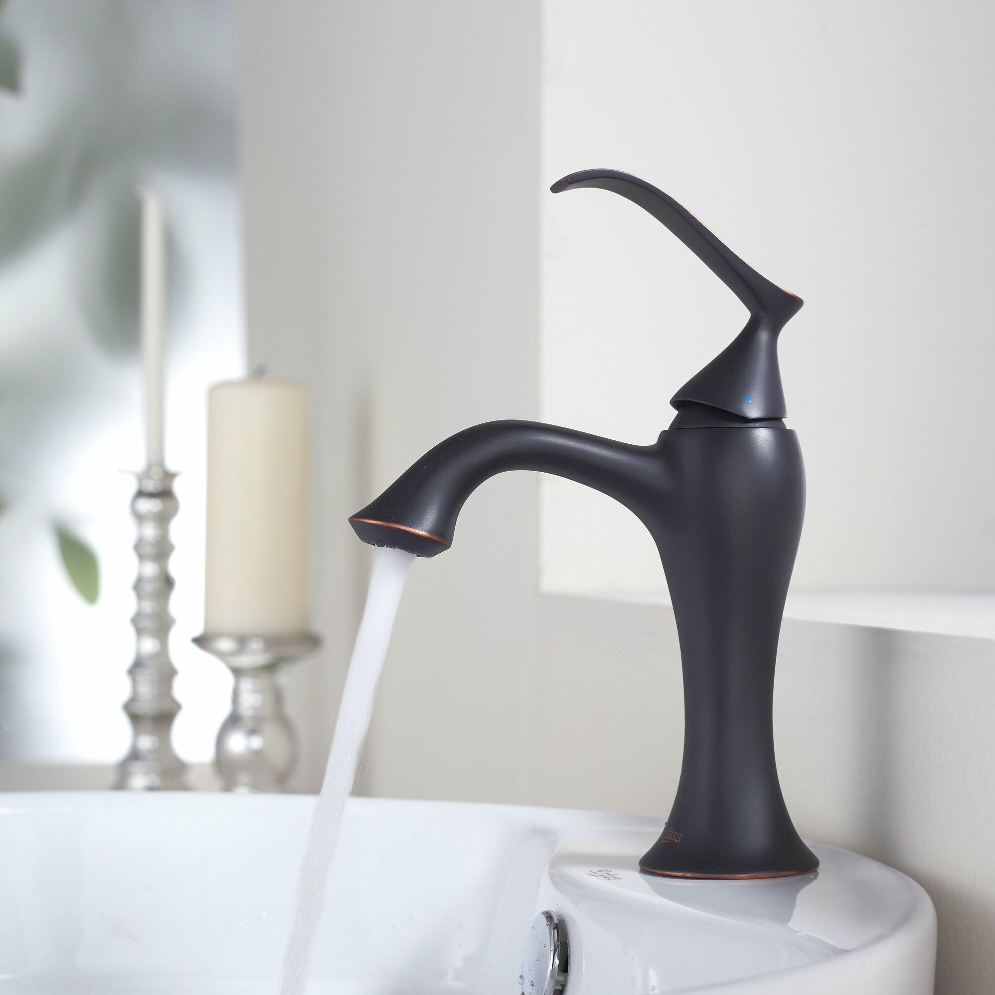 Kraus Bathroom Combos Bathroom Sink with Single Handle Single Hole ...