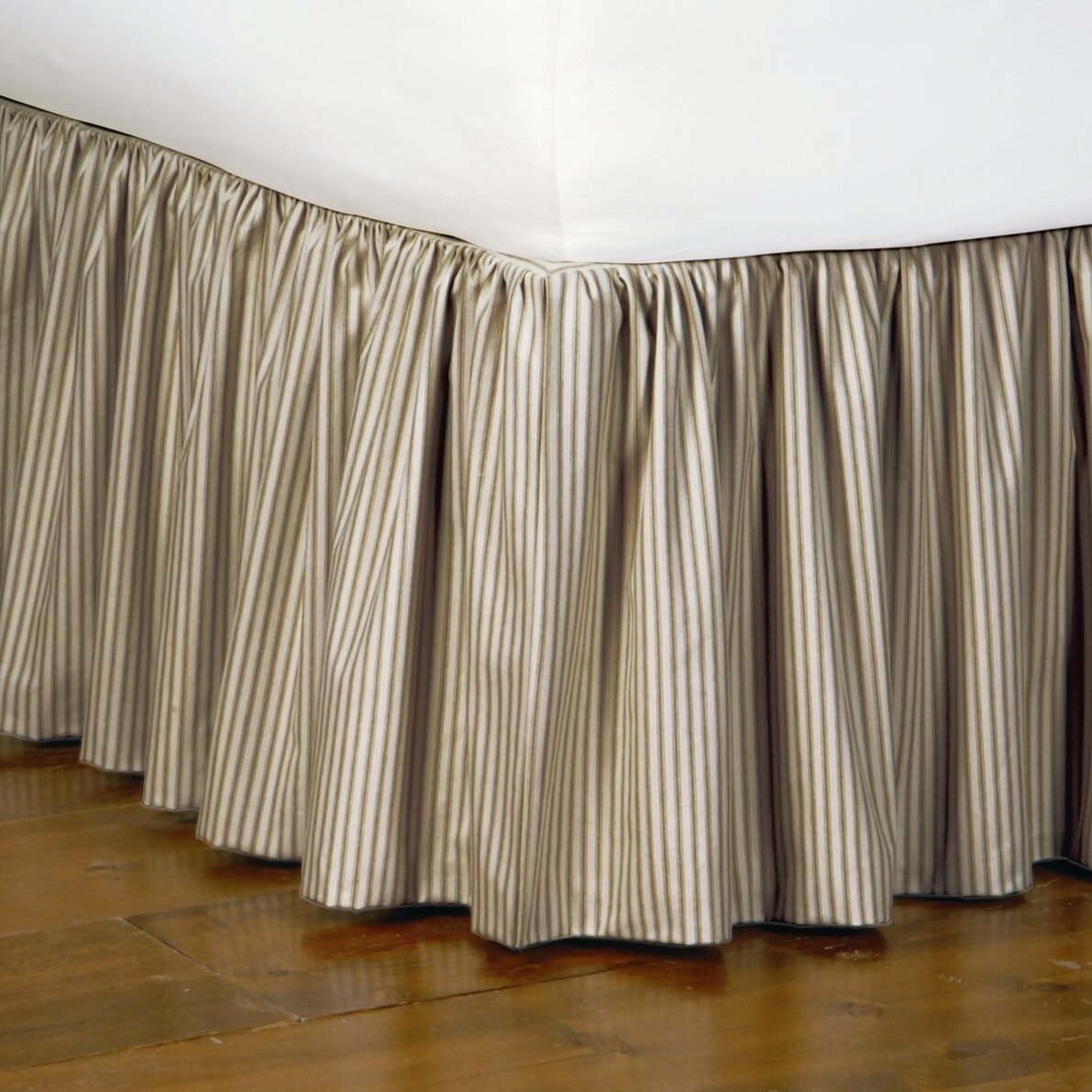 Ticking Stripe Bed Skirt 99
