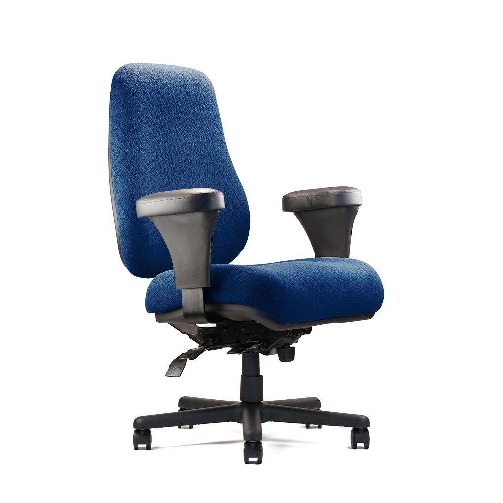 Big And Tall Extra Large Back Task Chair With Extra Large Seat And Minimal Co