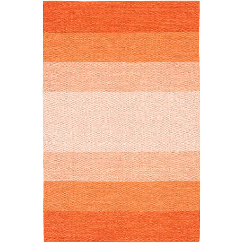 Chandra India Orange Striped Area Rug & Reviews