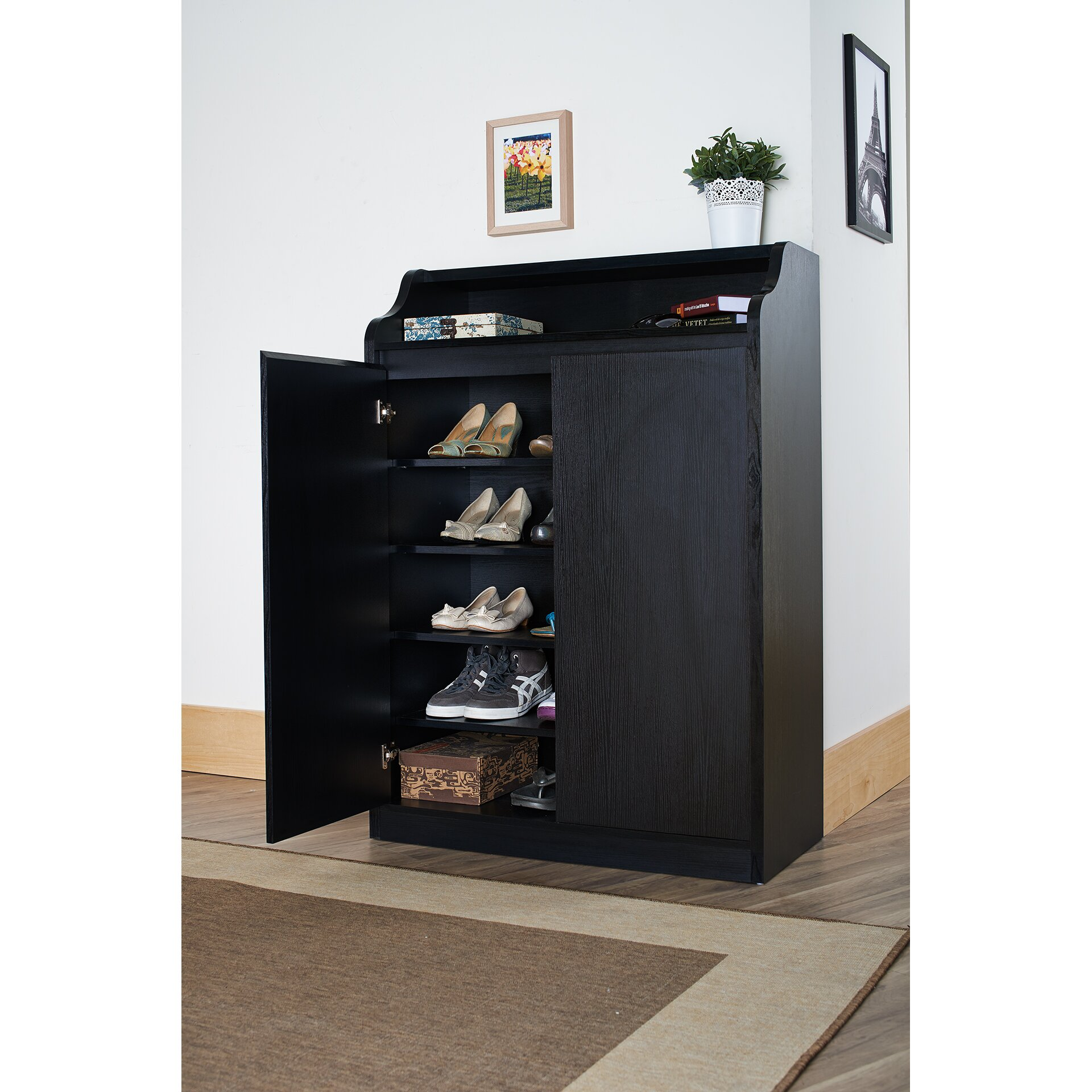 Hokku Designs Gavinetta Shoe Cabinet Reviews Wayfair