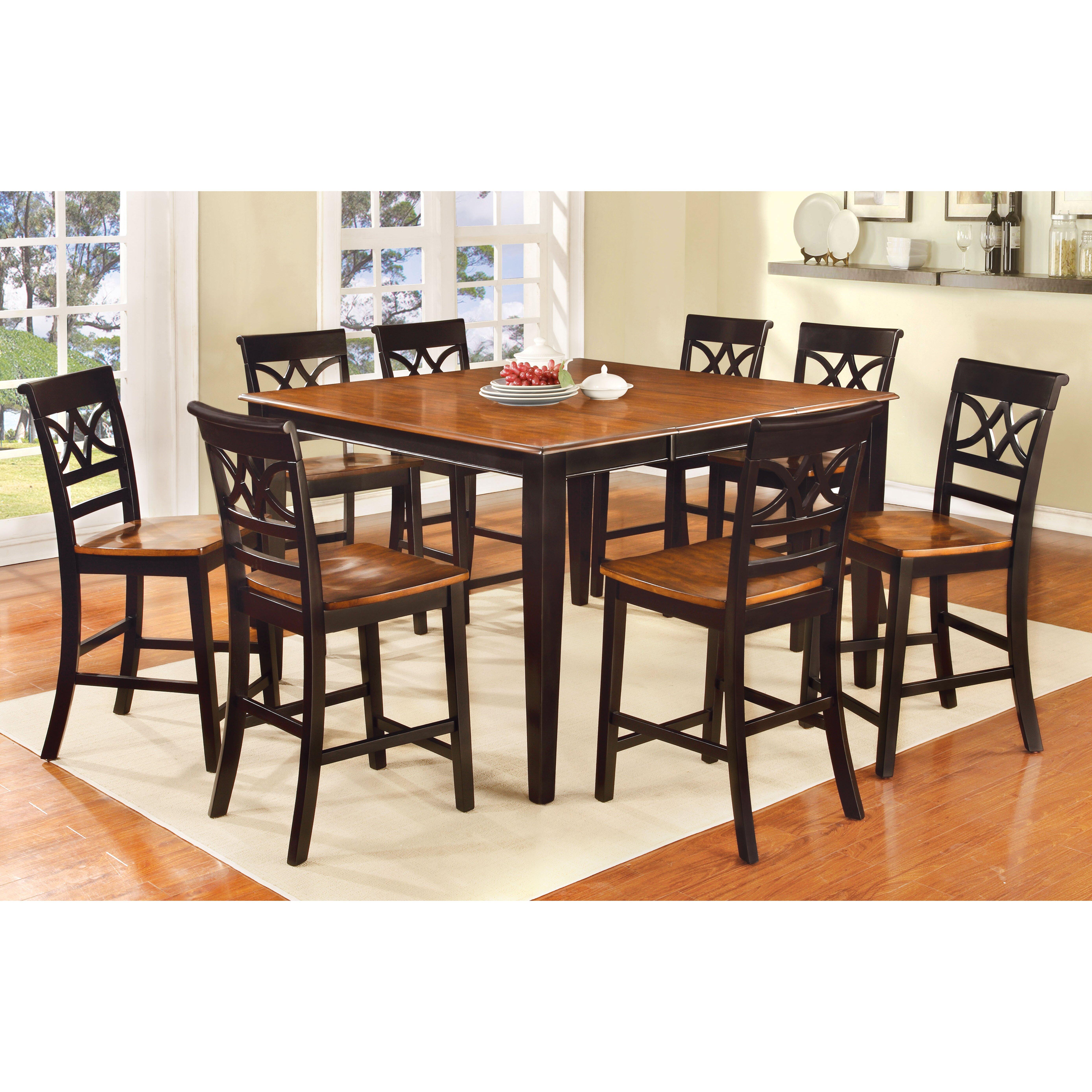 Hokku Designs Exenia 9 Piece Counter Height Pub Dining Set