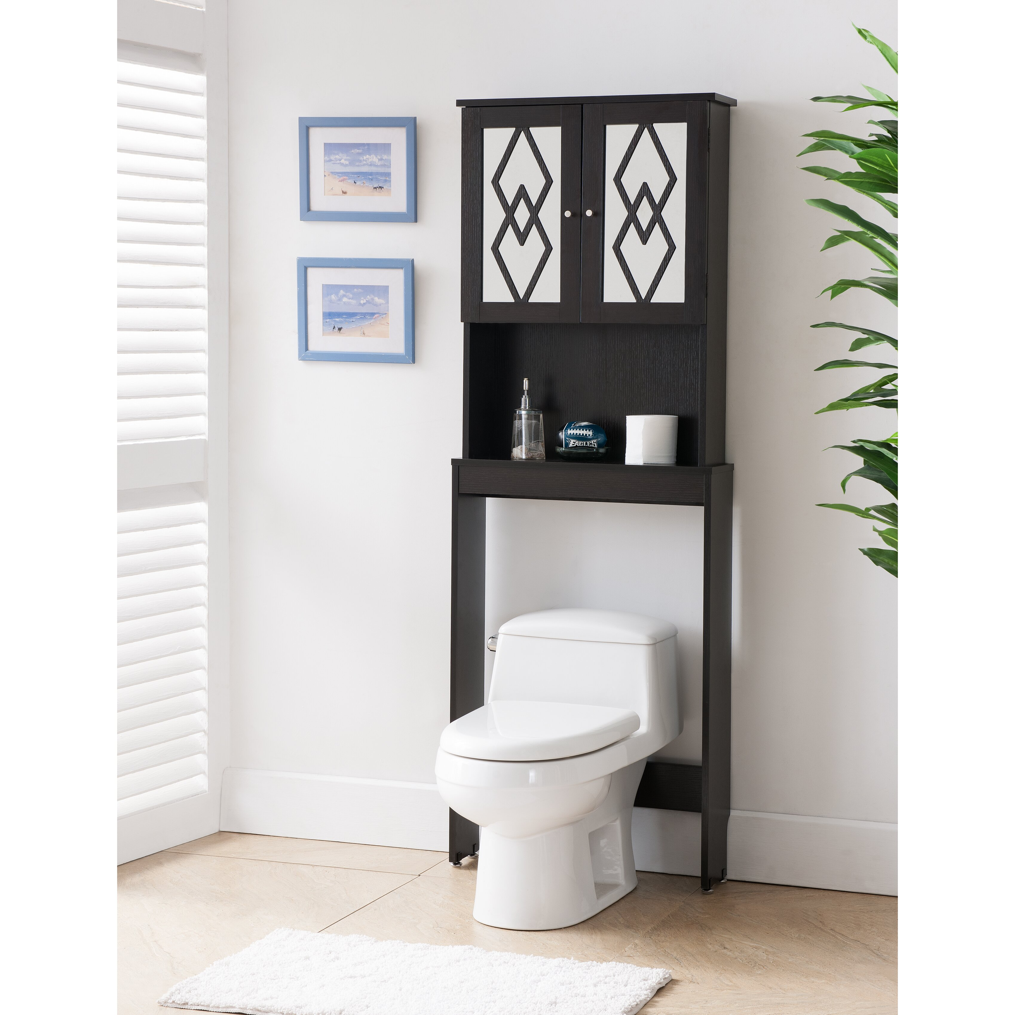 hokku designs cora 24 x 67 free standing over the toliet
