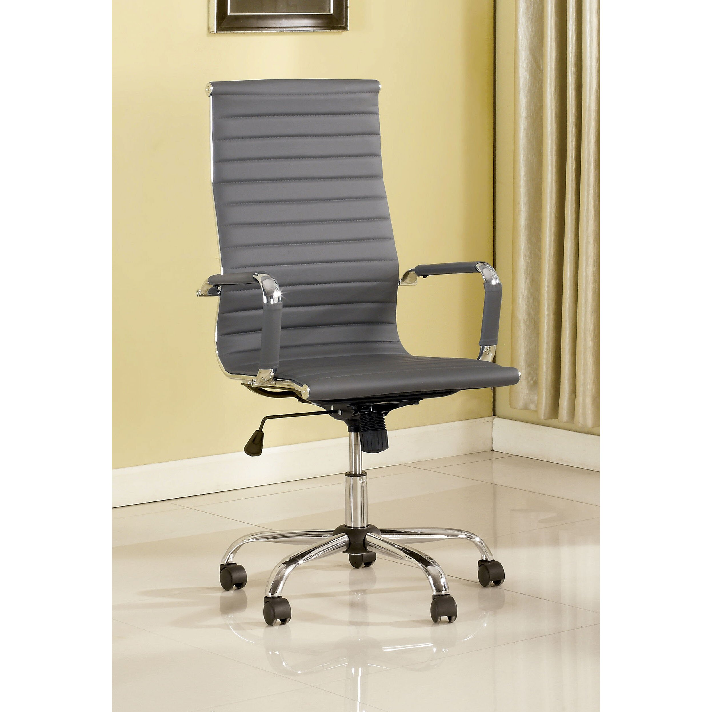 designs dorynn high back office chair with casters reviews wayfair