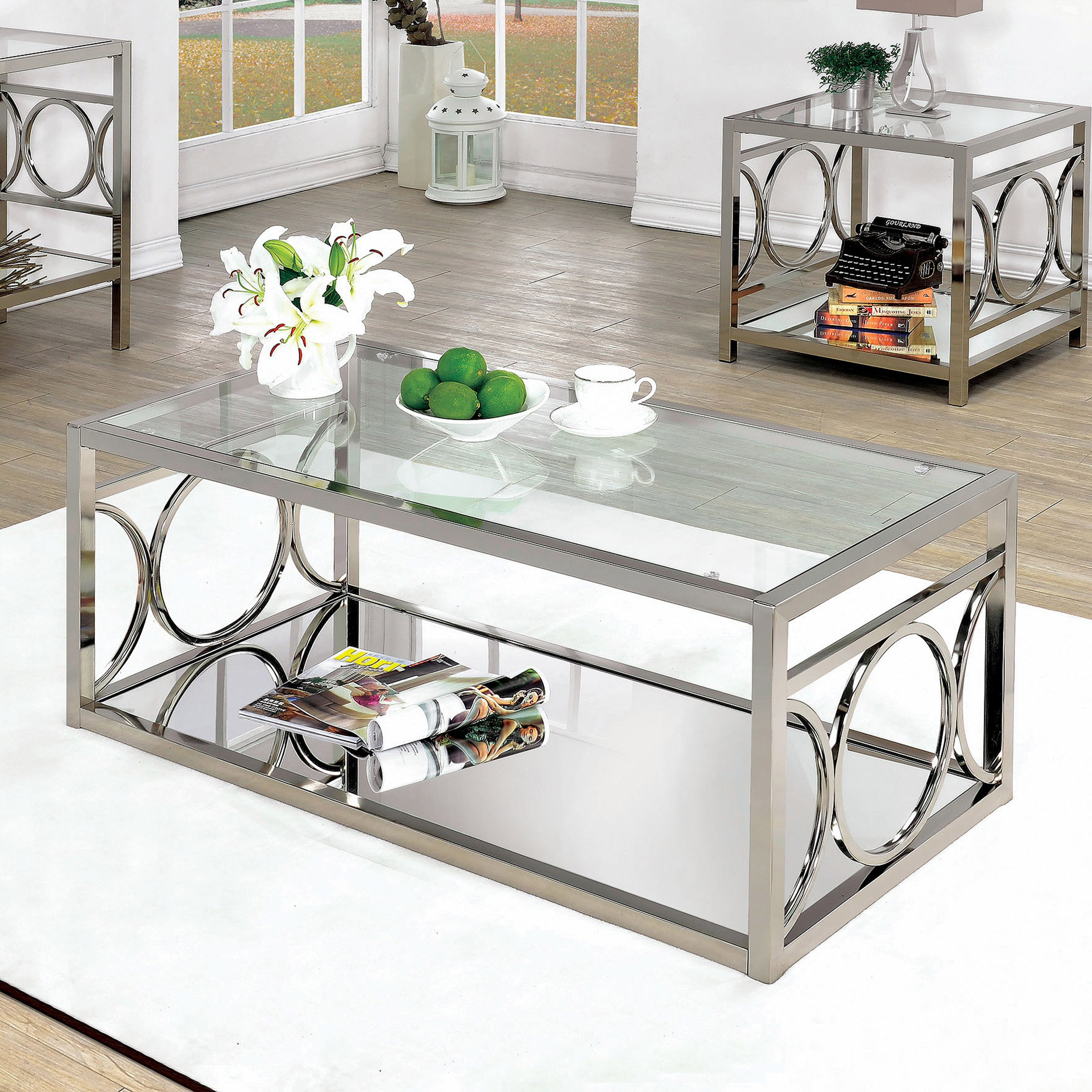 Romy Square Metal Coffee Table Am Pm: Mercer41 Spacek O-Ring Panel Coffee Table & Reviews