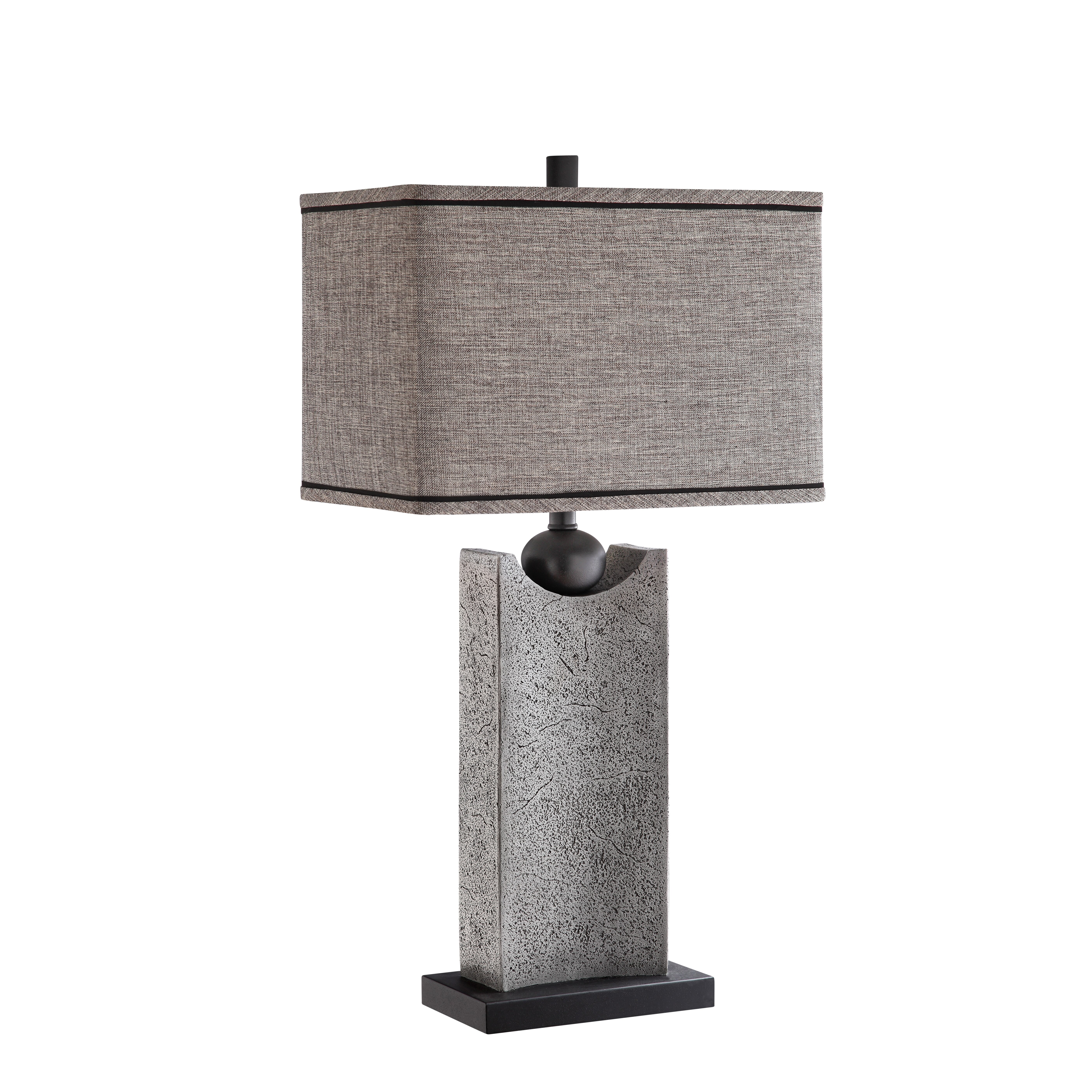 thornton 31 h table lamp with rectangular shade by stein world. Black Bedroom Furniture Sets. Home Design Ideas