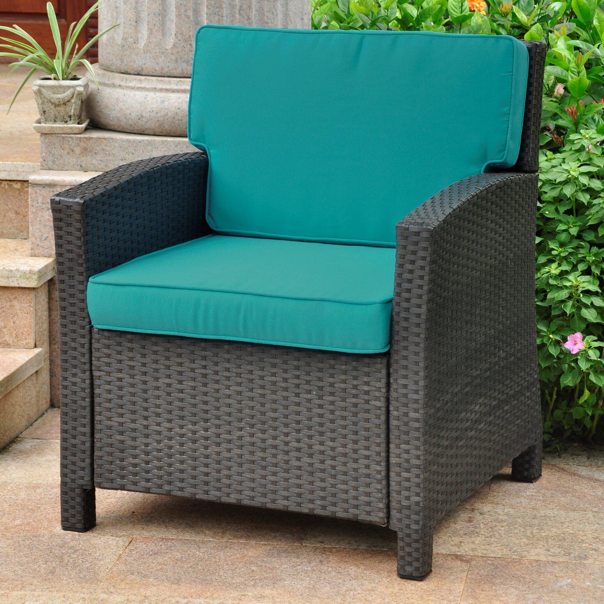 Make Wicker Chair Cushions International Caravan Valencia Wicker Resin Contemporary Patio Chair