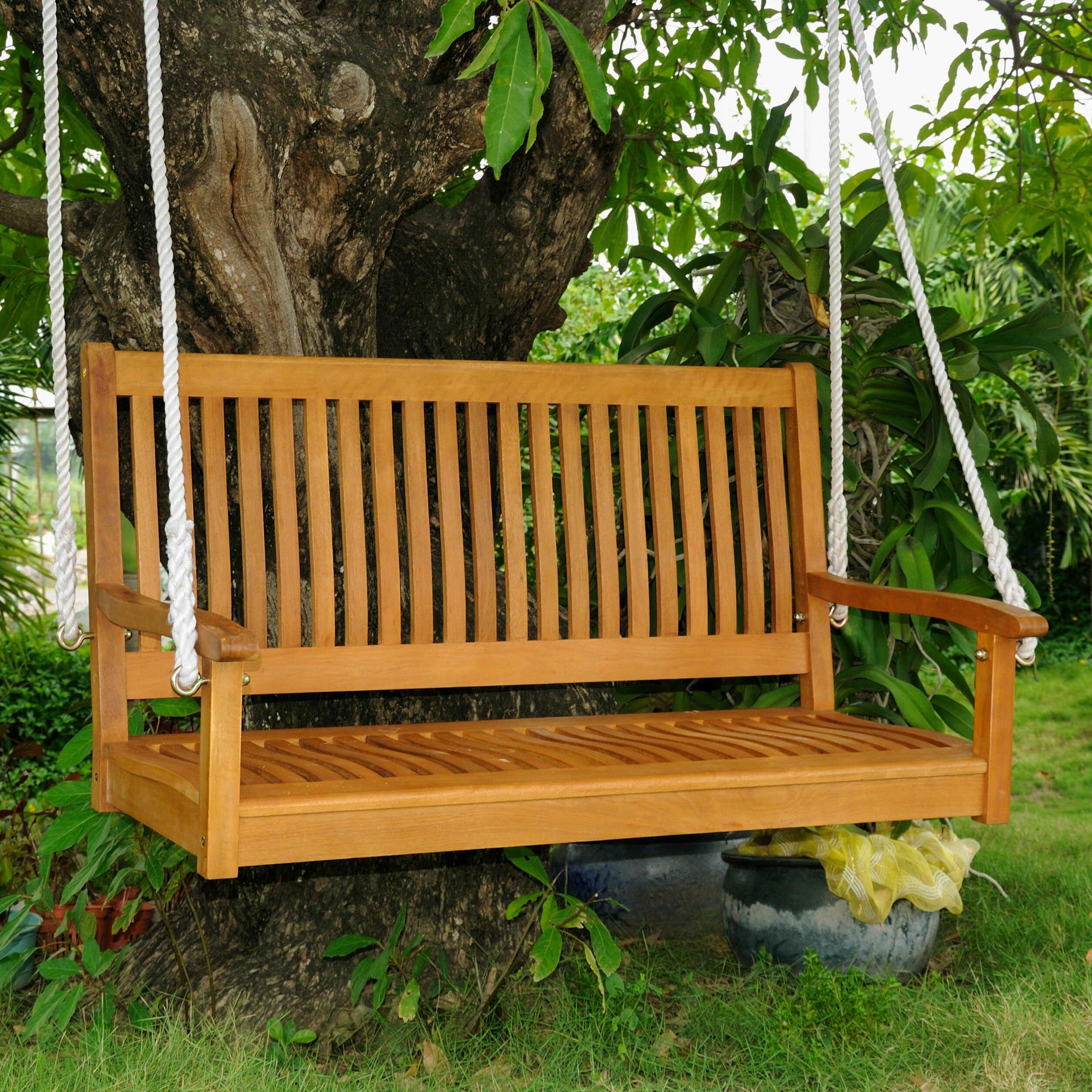 cedar+log+swing+two+2+seat