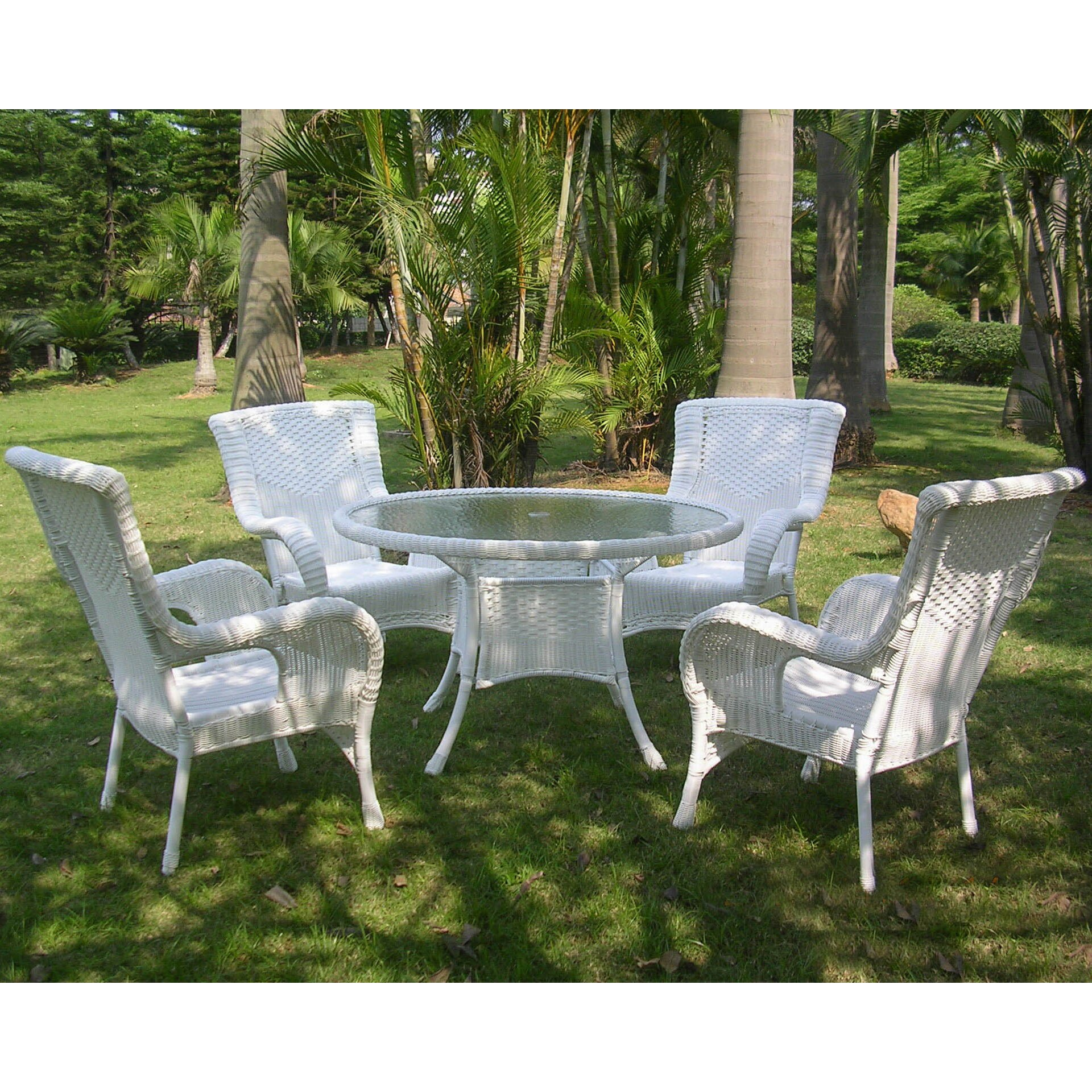 International Caravan San Tropez Set of 5 Wicker