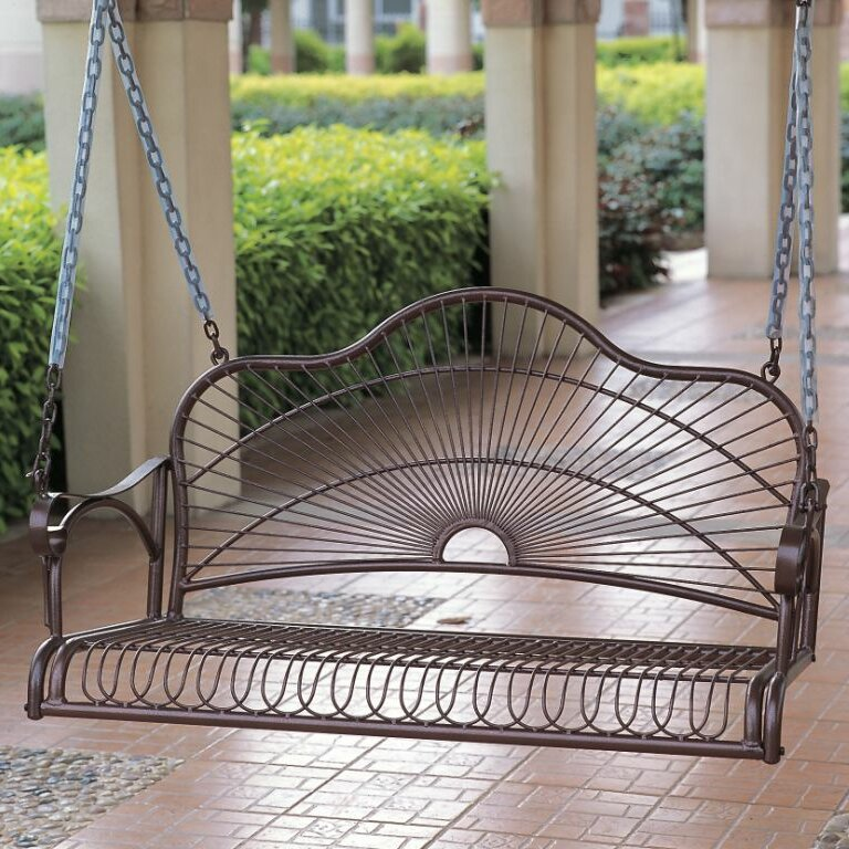 wrought iron patio swing 3