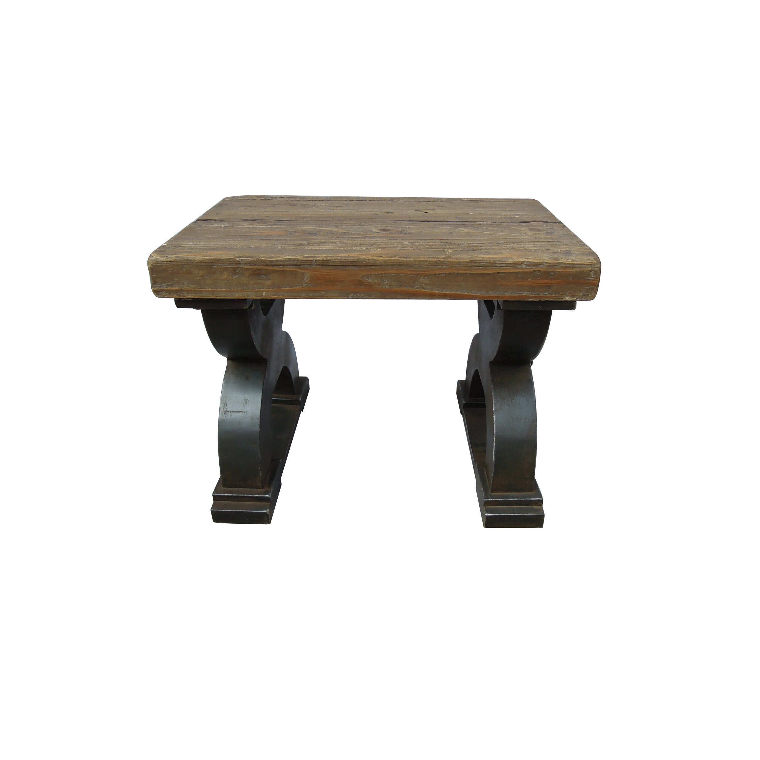 ... Caravan Rustic Forge Wood Entryway Bench & Reviews  Wayfair
