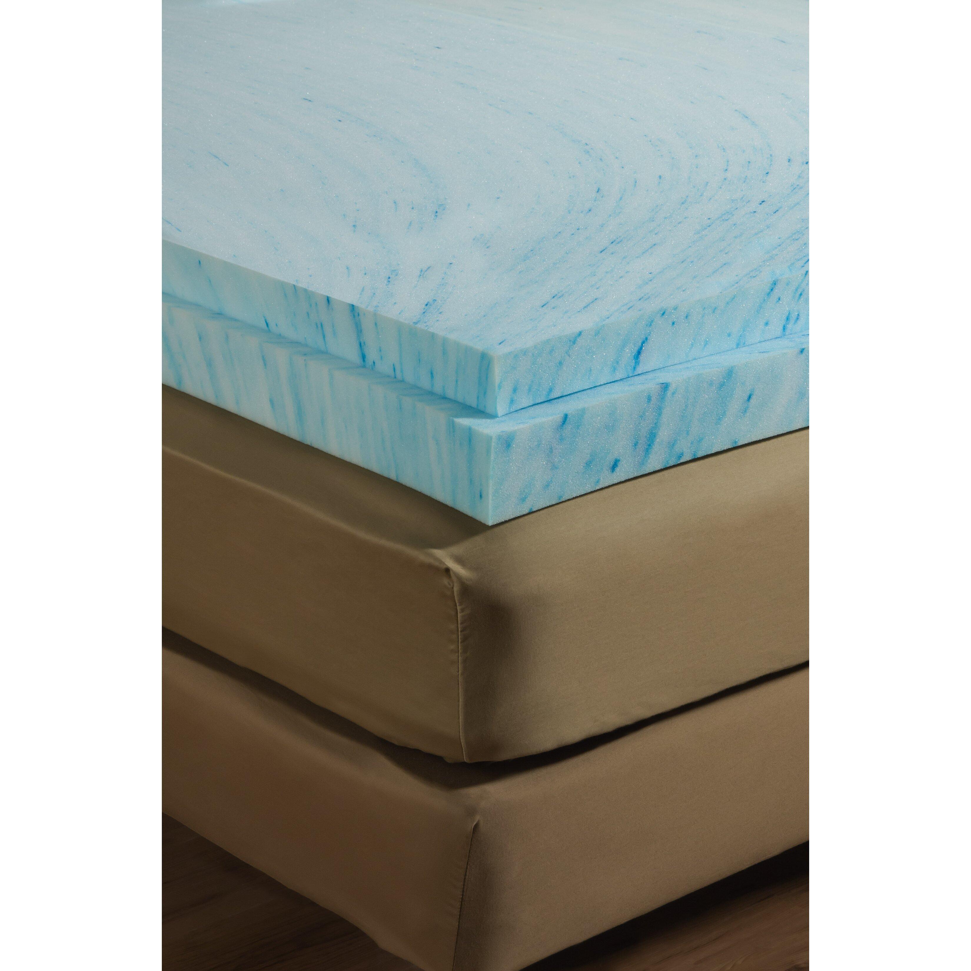 """Independent Sleep 3"""" Gel Memory Foam Mattress Topper"""