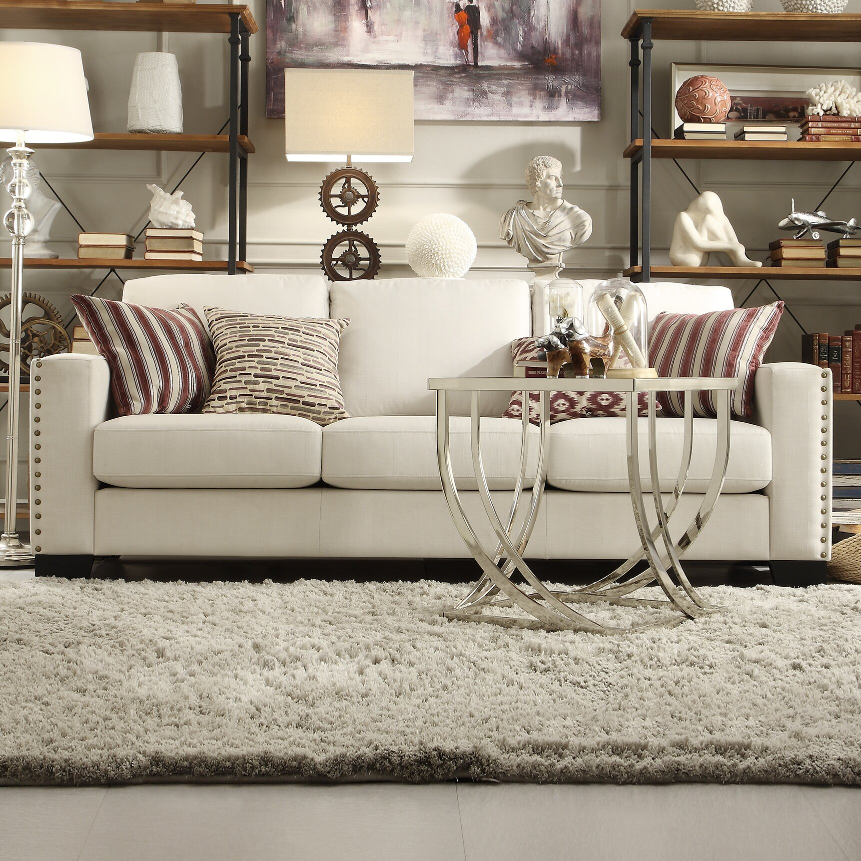 Kingstown Home Navarro Nailhead Trim Sofa & Reviews | Wayfair