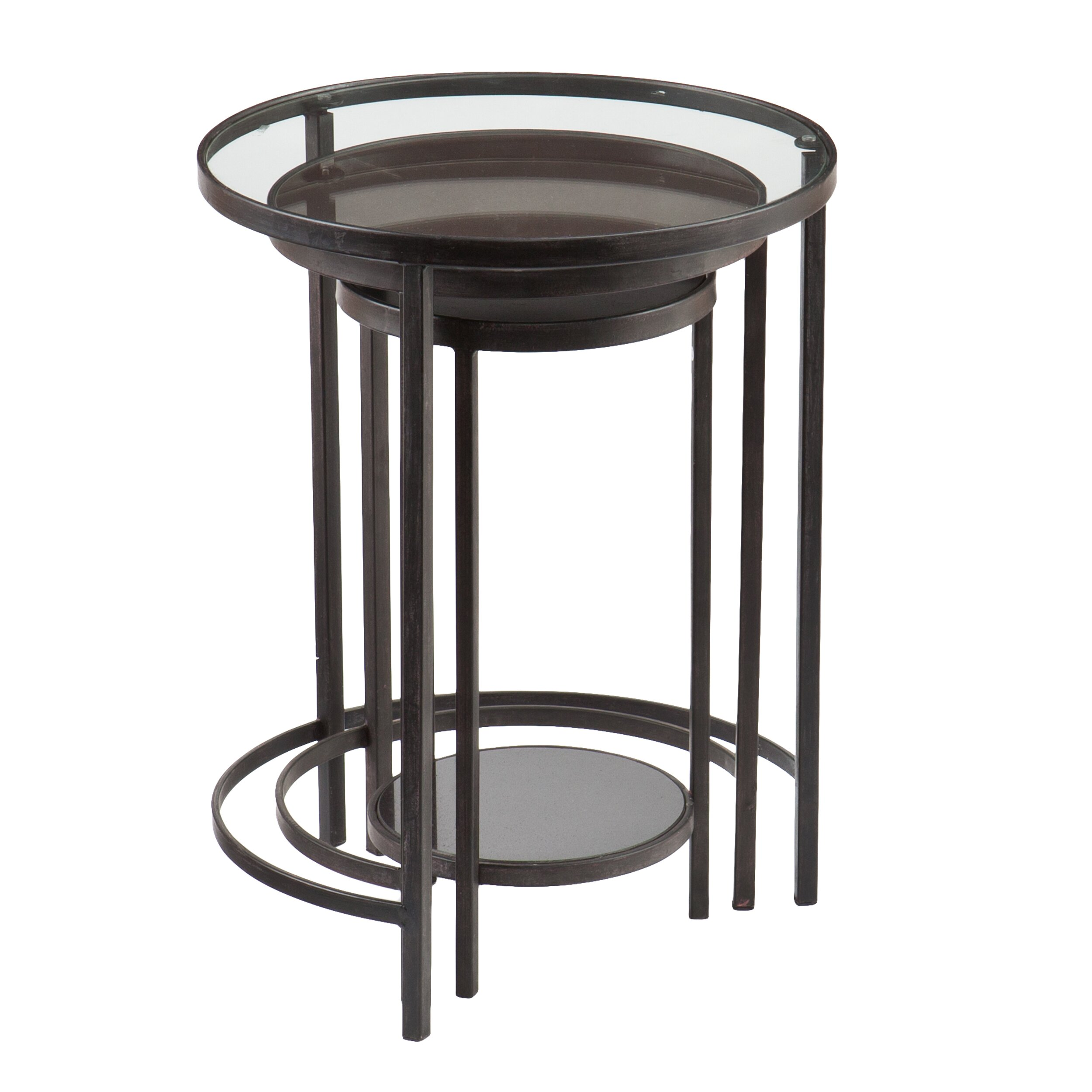 Holly & Martin Ocelle 3 Piece Nesting Table Set & Reviews Wayfair. Full resolution  portraiture, nominally Width 2500 Height 2500 pixels, portraiture with #6D665E.