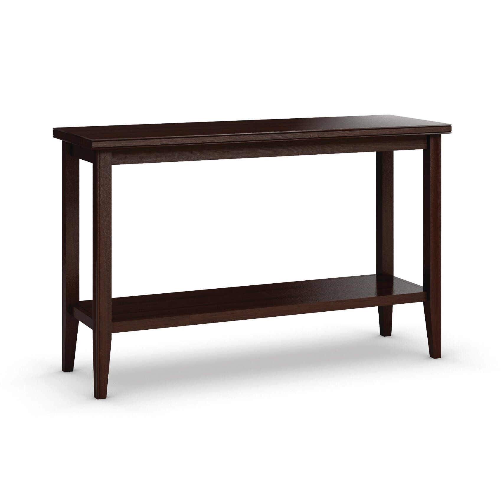caravel bowery sofa table with shelf reviews wayfair. Black Bedroom Furniture Sets. Home Design Ideas