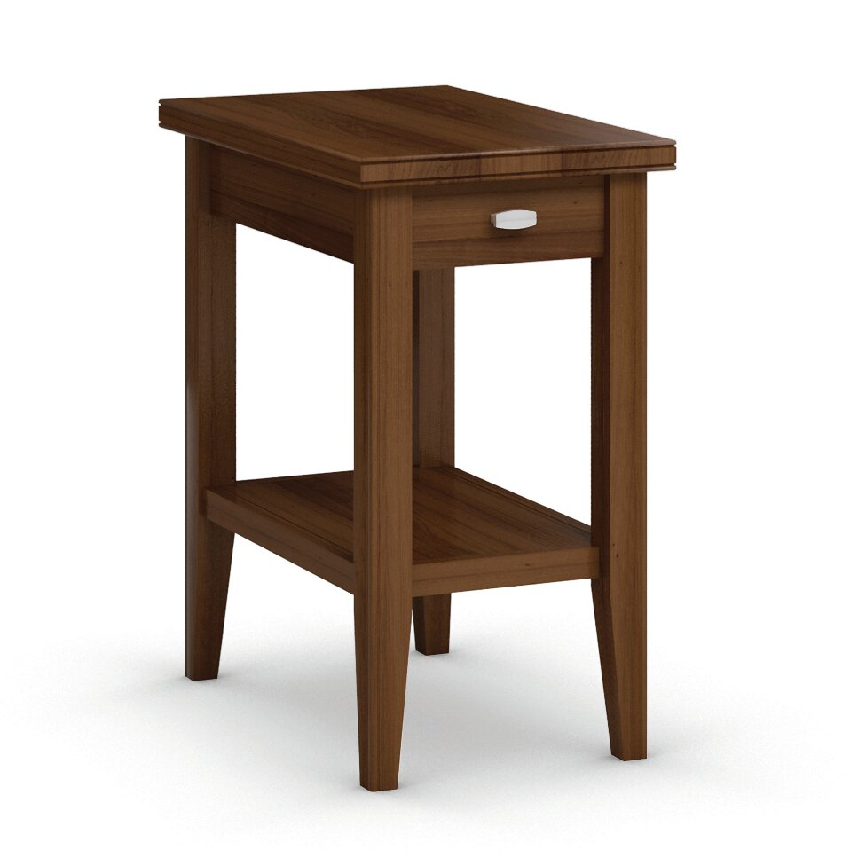 Caravel Bowery Chairside Table with Drawer & Reviews
