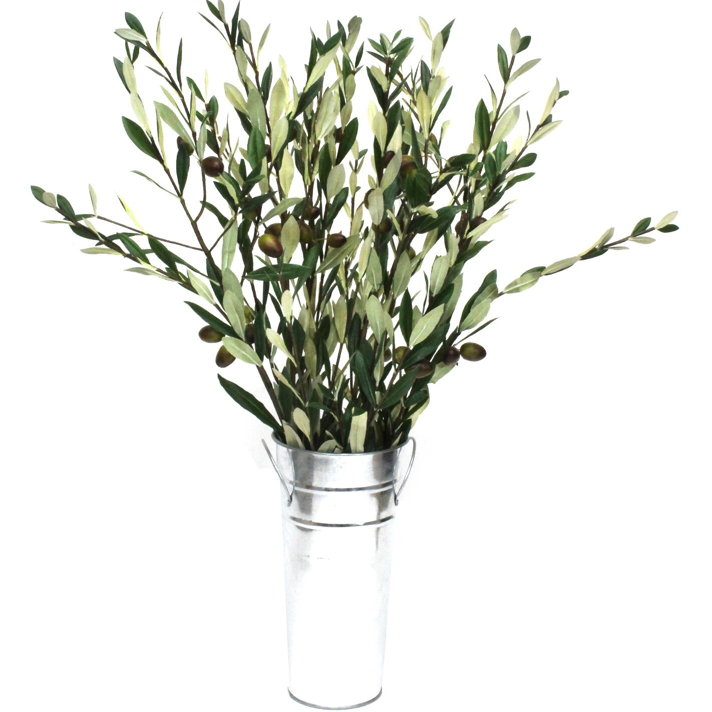 Olive Branches Tree In Decorative Vase Wayfair