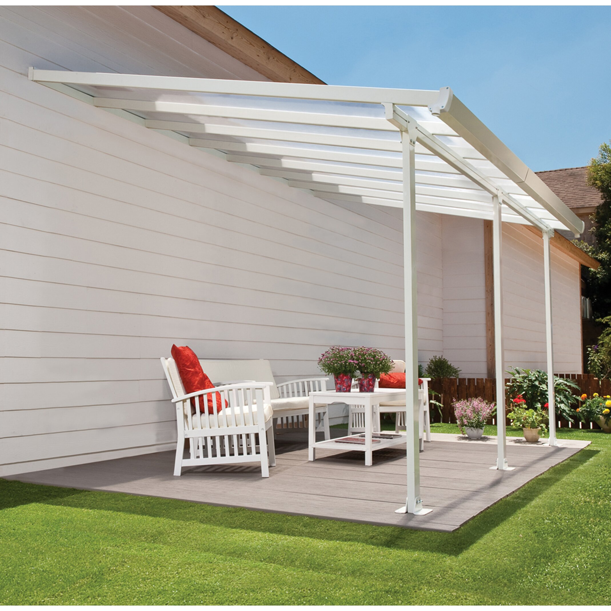 Feria 10ft H X 26ft W X 13ft D Patio Cover Awning