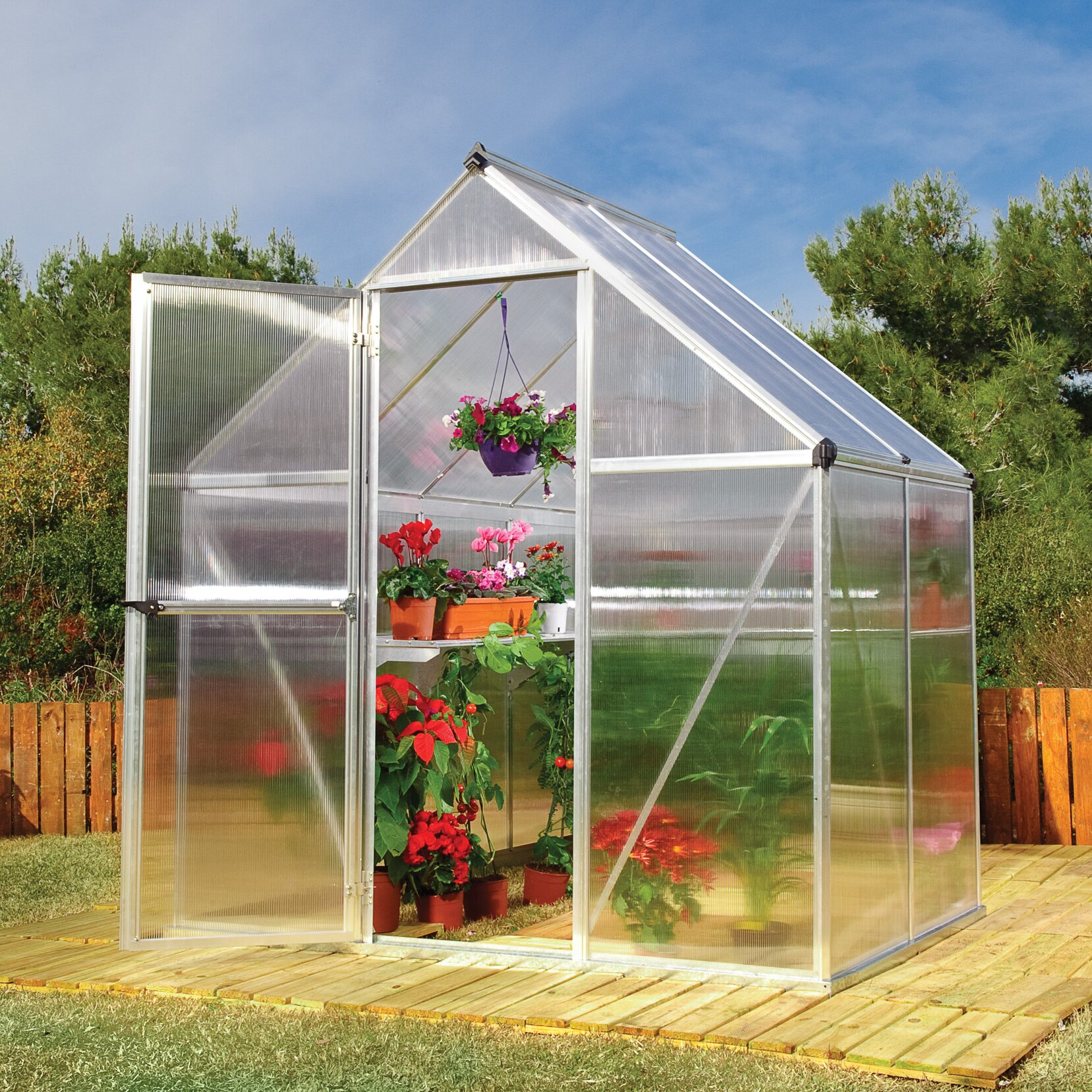 palram nature twin 6 ft w x 4 ft d greenhouse reviews. Black Bedroom Furniture Sets. Home Design Ideas