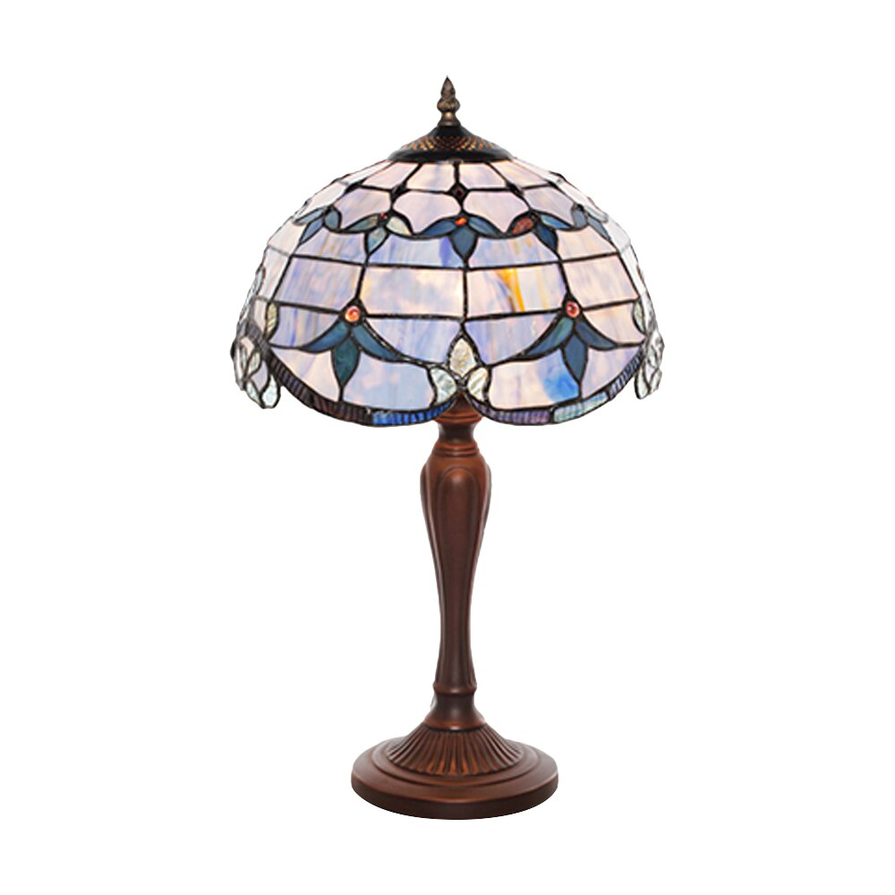 river of goods allistar tiffany style stained glass 20 5 h table lamp. Black Bedroom Furniture Sets. Home Design Ideas