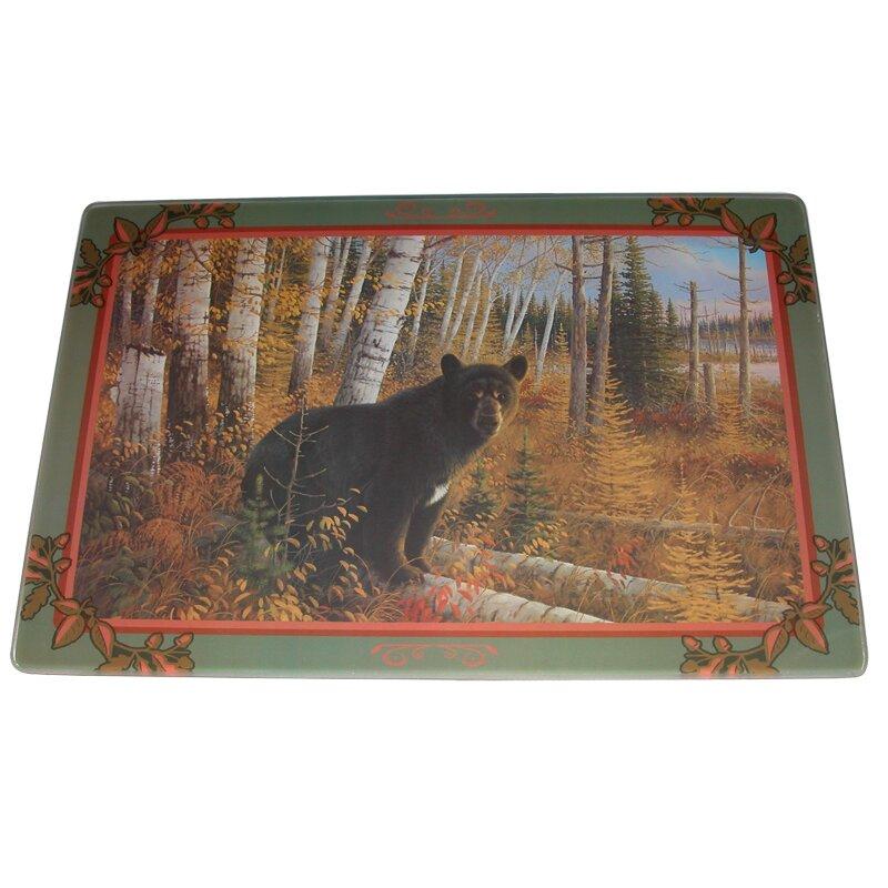 Bear tempered glass cutting board wayfair - Decorative tempered glass cutting boards ...