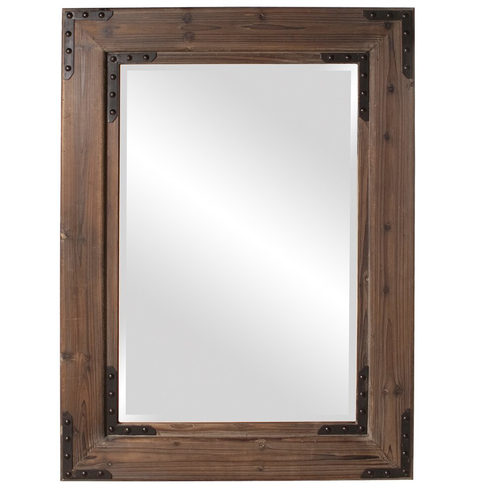 Howard elliott caldwell rectangle wood mirror reviews for Rectangle mirror