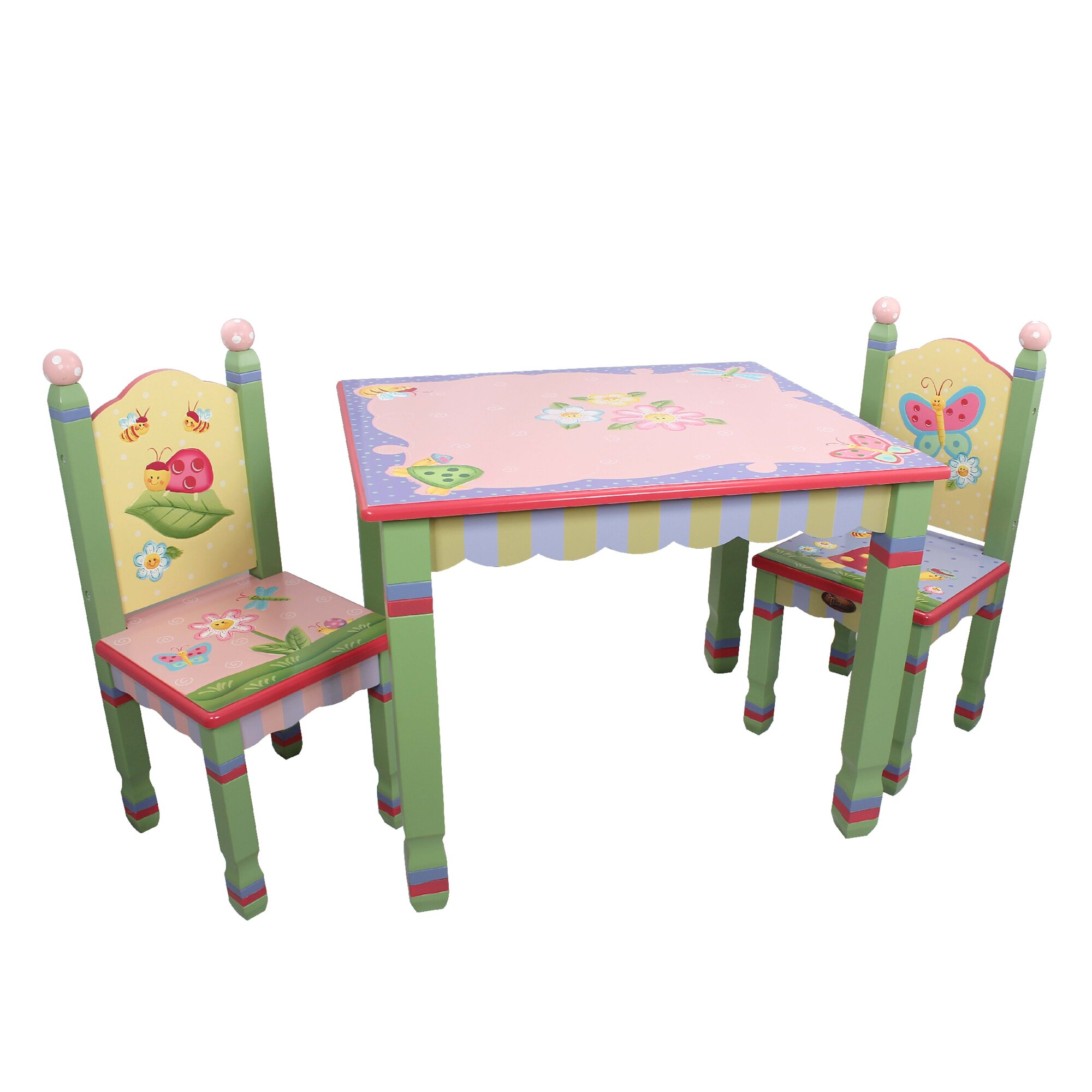 Fantasy Fields Magic Garden Kids 3 Piece Table Chair Set