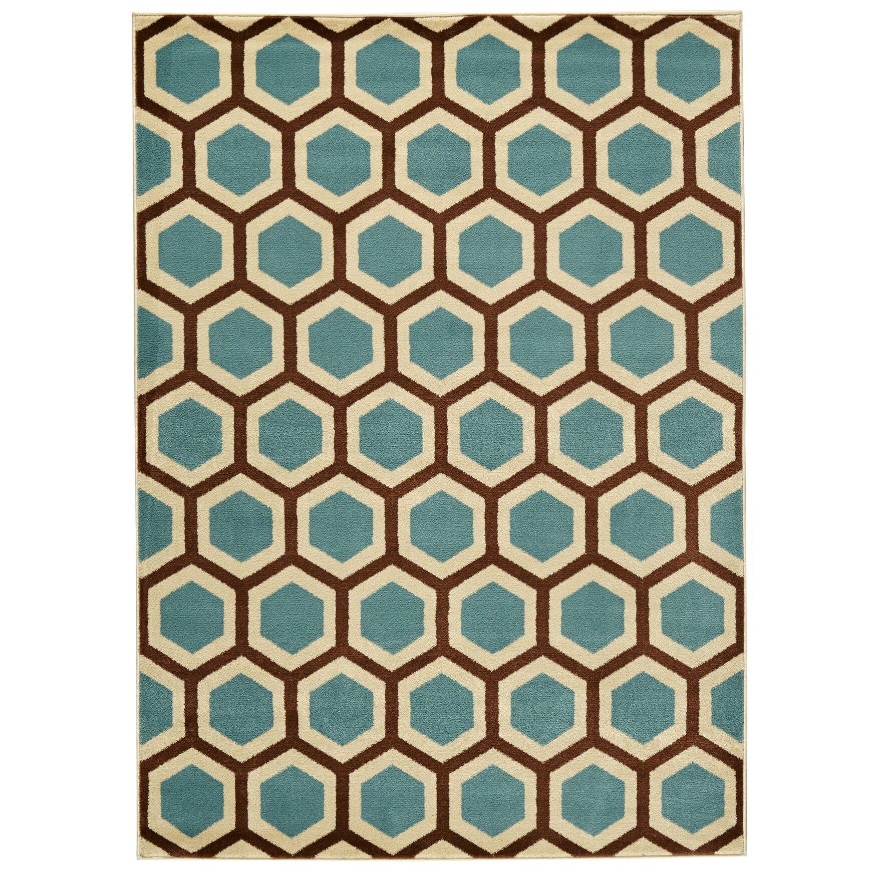Zipcode™ Design Nova Ivory & Blue Area Rug & Reviews