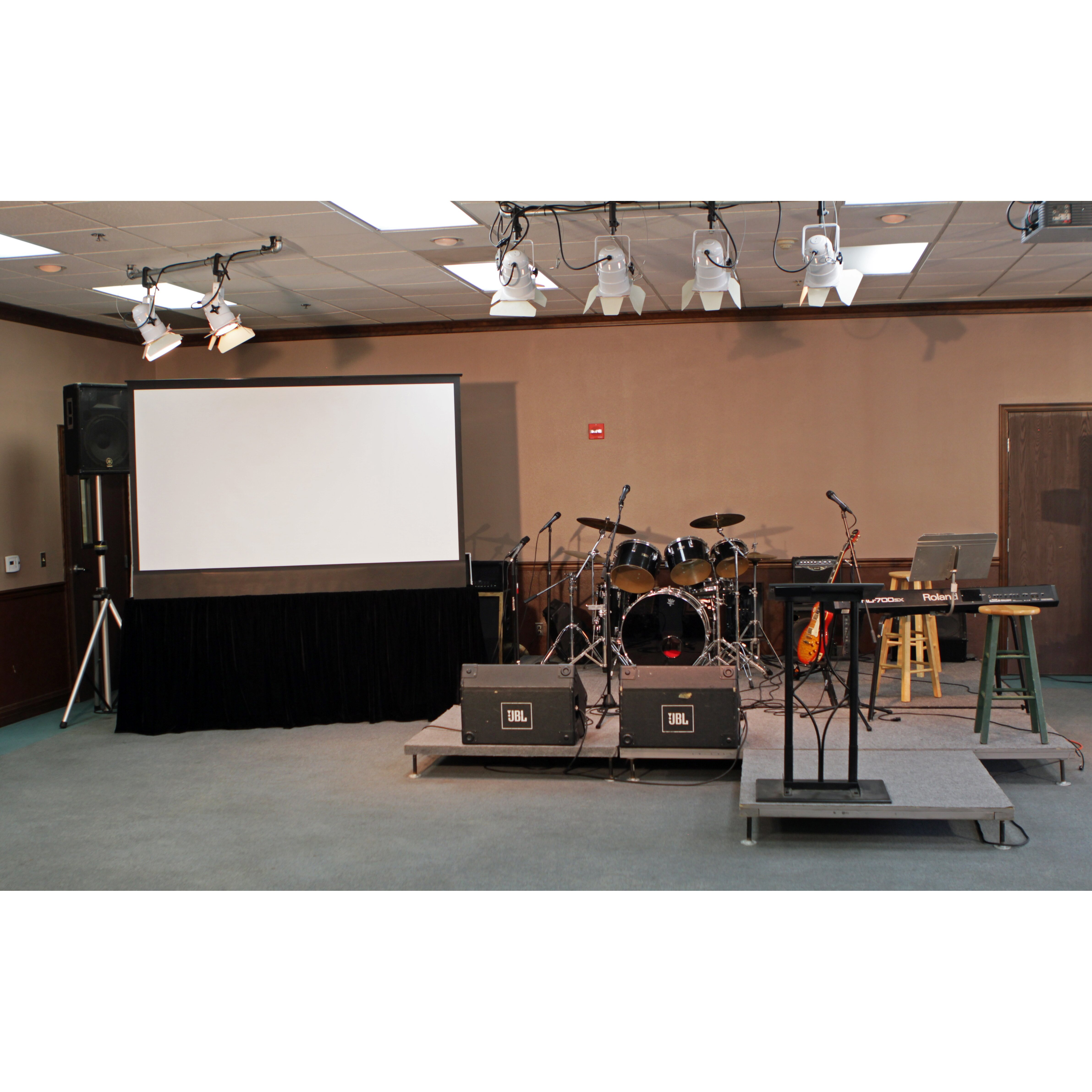 Kestrel stage white electric projection screen wayfair for Elite motorized projector screen