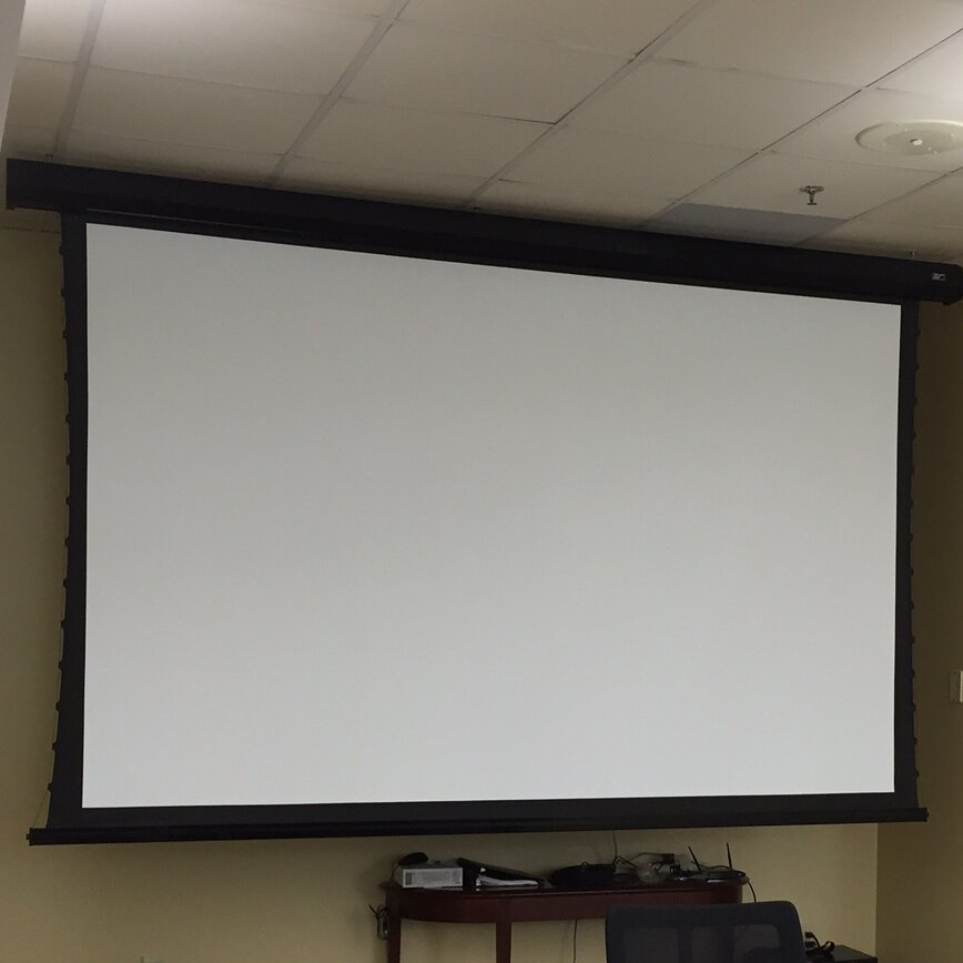 Cinetension2 electric projection screen wayfair supply for Elite motorized projector screen
