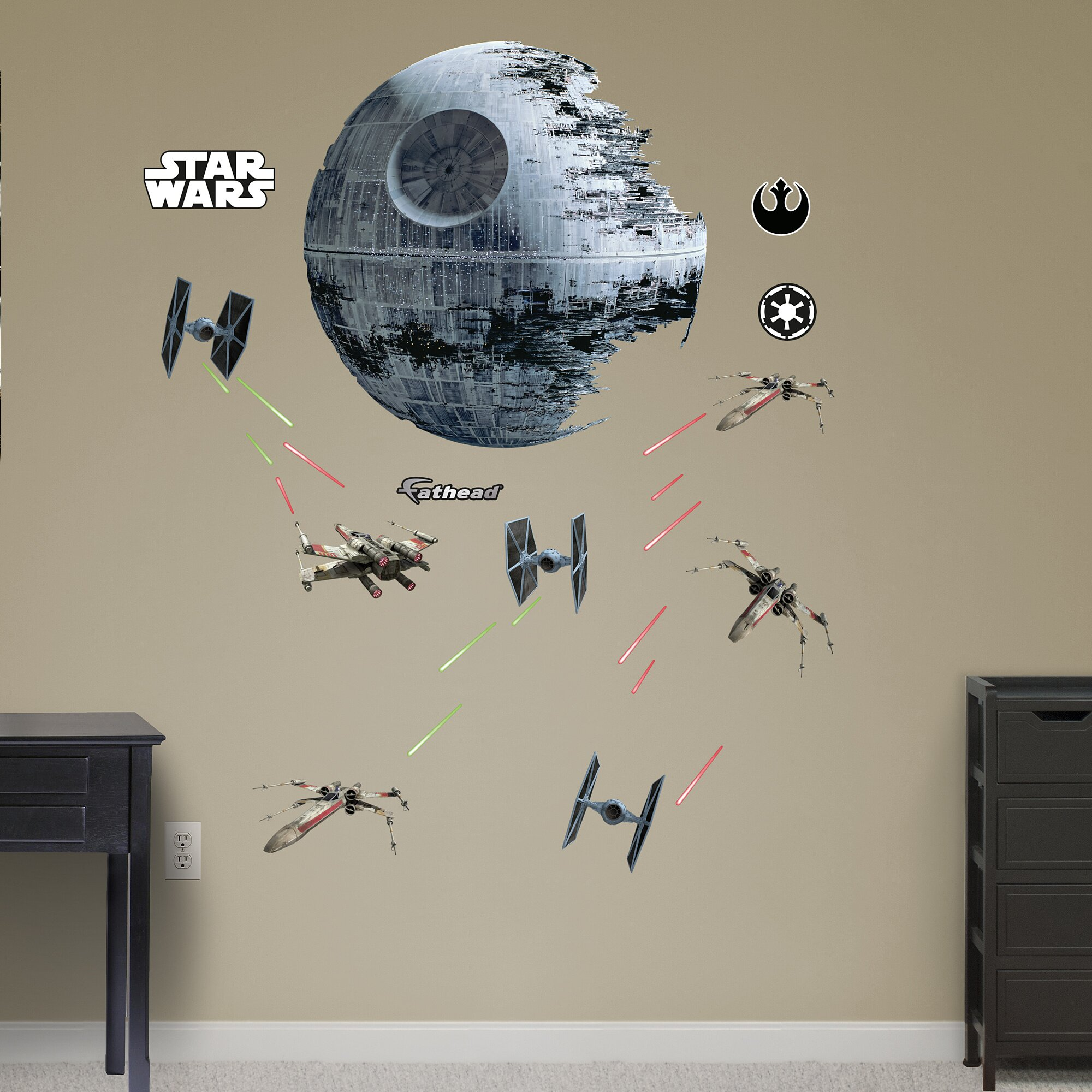 star wars wall decals fathead realbig wars battle wall decal 11697