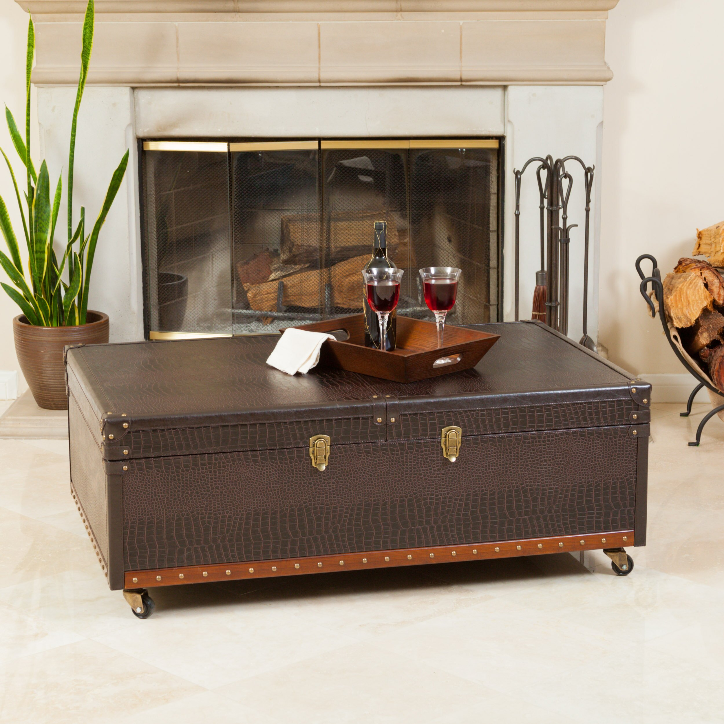 Bowler Trunk And Coffee Table Wayfair